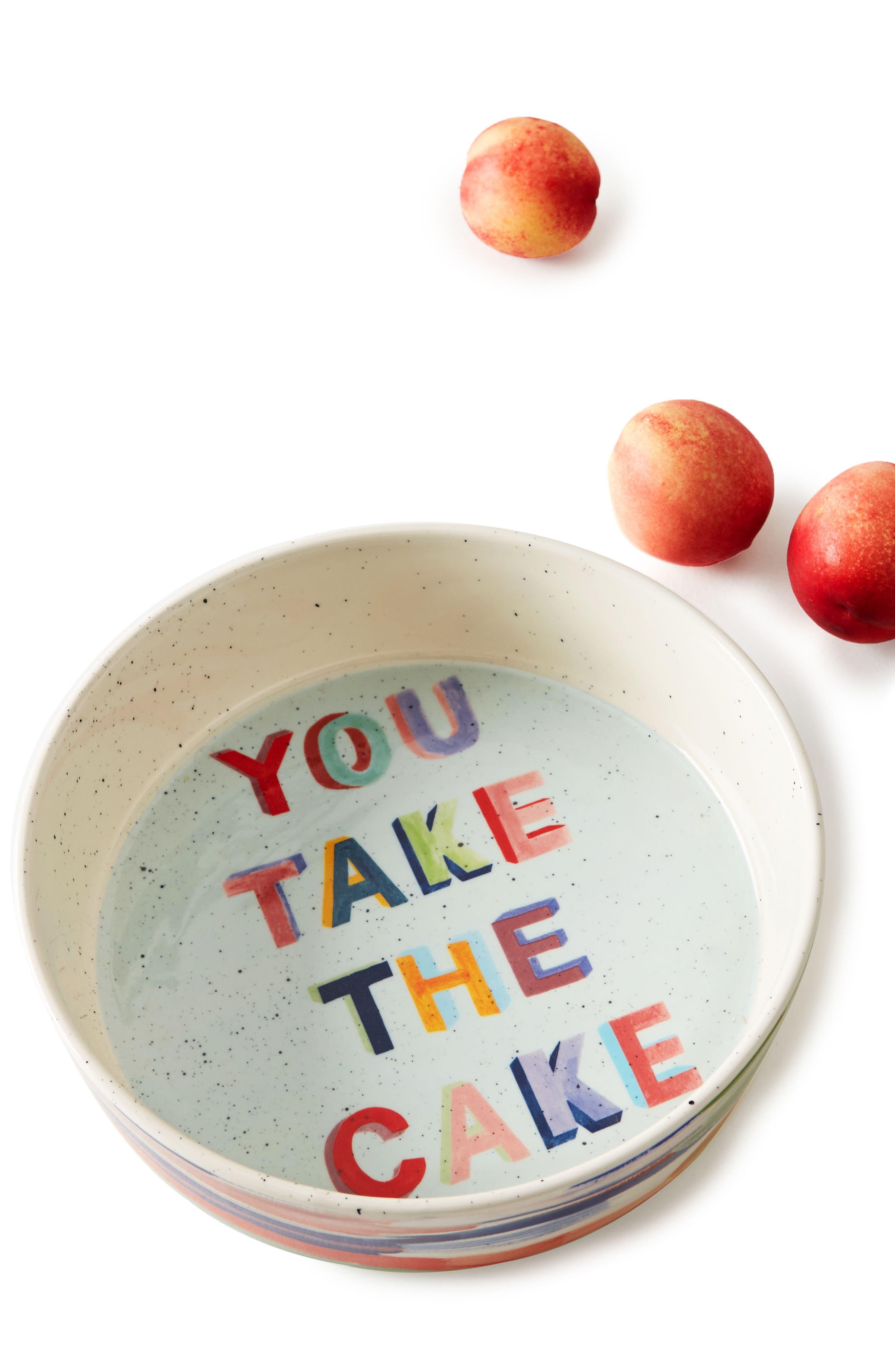 Painter's Palette Stoneware Pie Dish,                             Alternate thumbnail 3, color,                             White