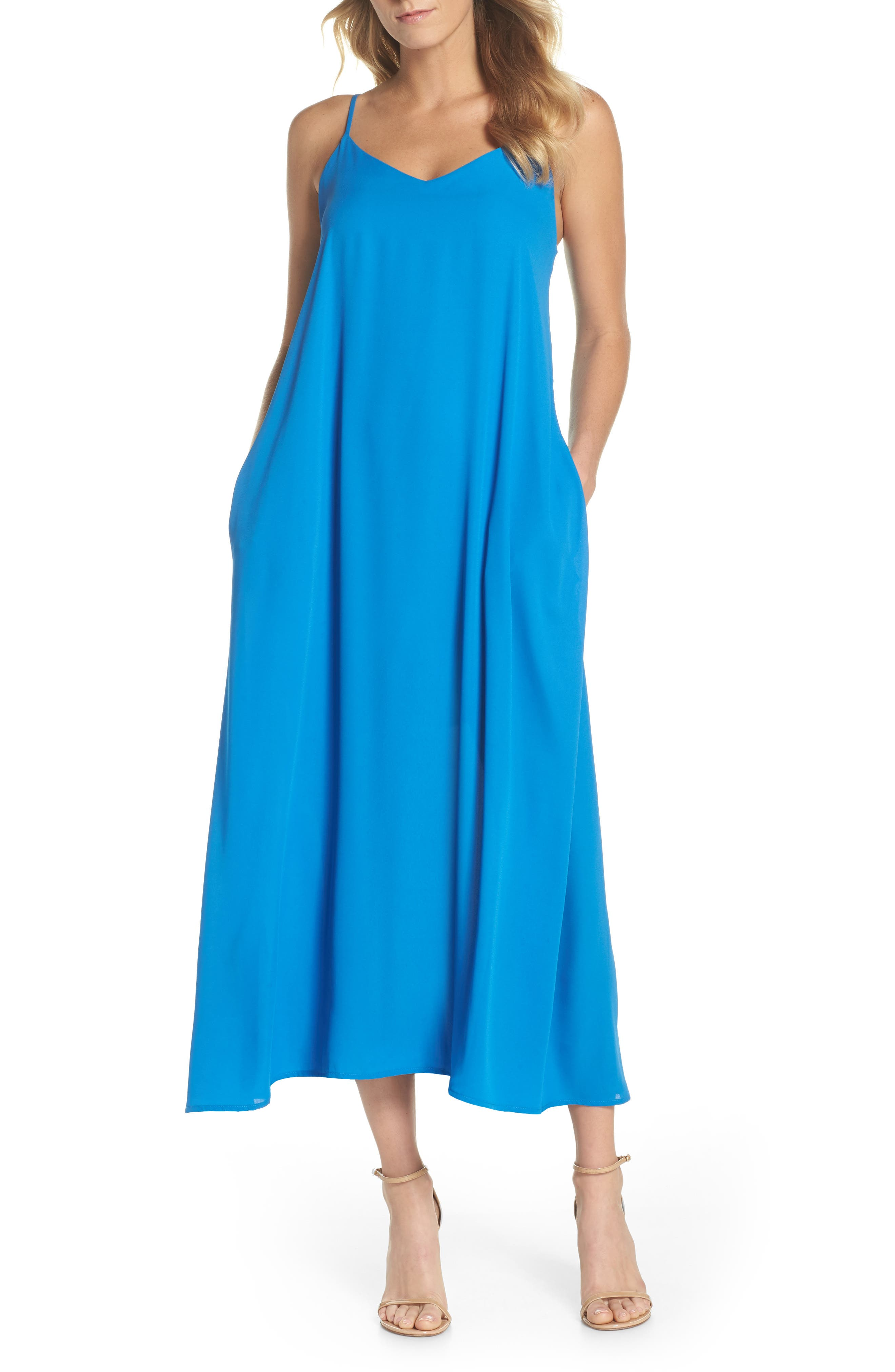 Maxi Slipdress,                         Main,                         color, French Blue