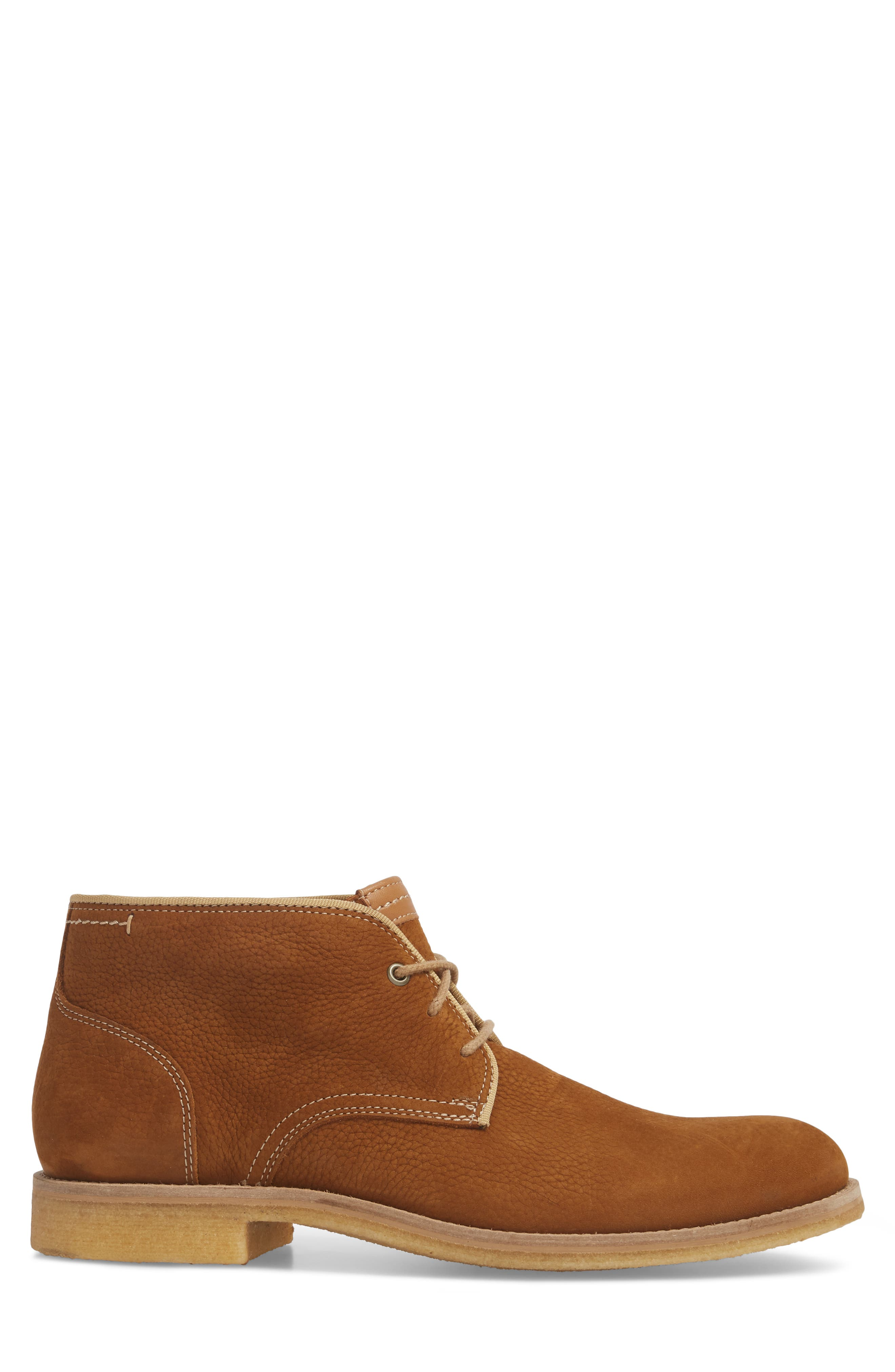 Howell Water Resistant Chukka Boot,                             Alternate thumbnail 3, color,                             Tan Nubuck Leather