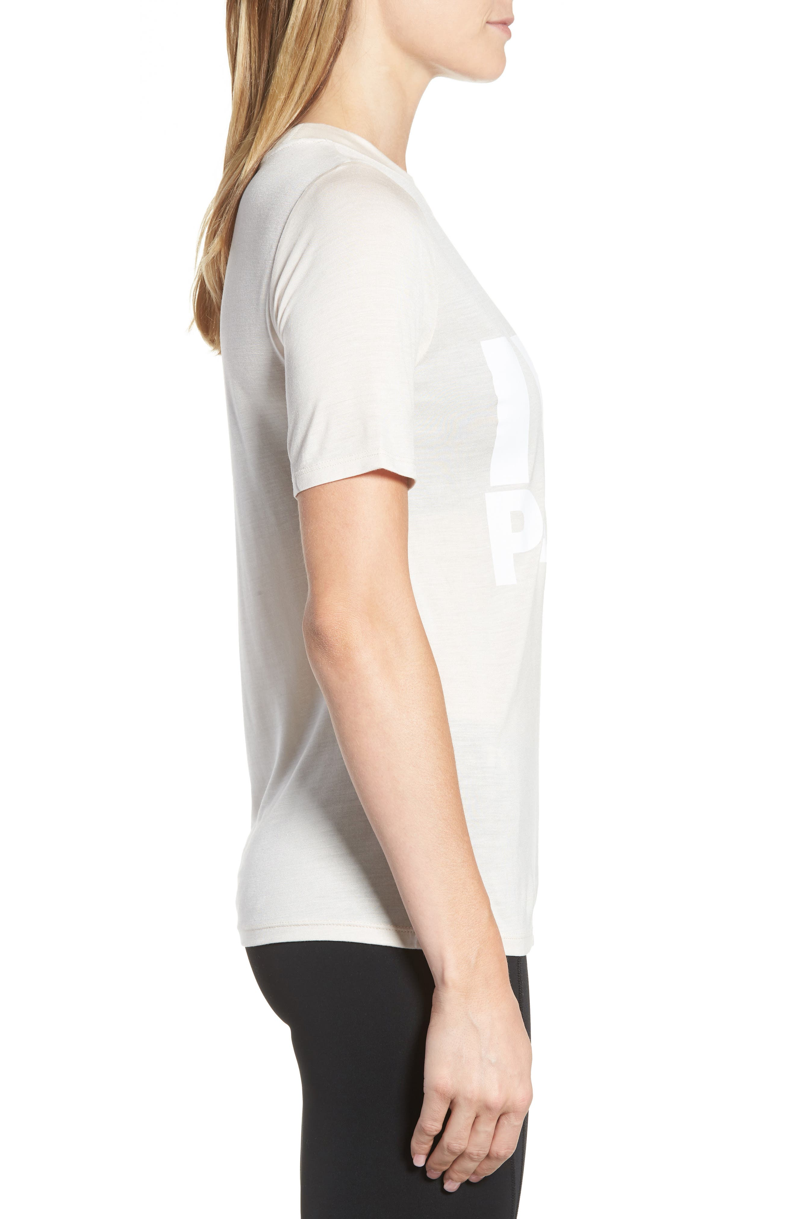 Programme Fitted Logo Tee,                             Alternate thumbnail 3, color,                             Ecru