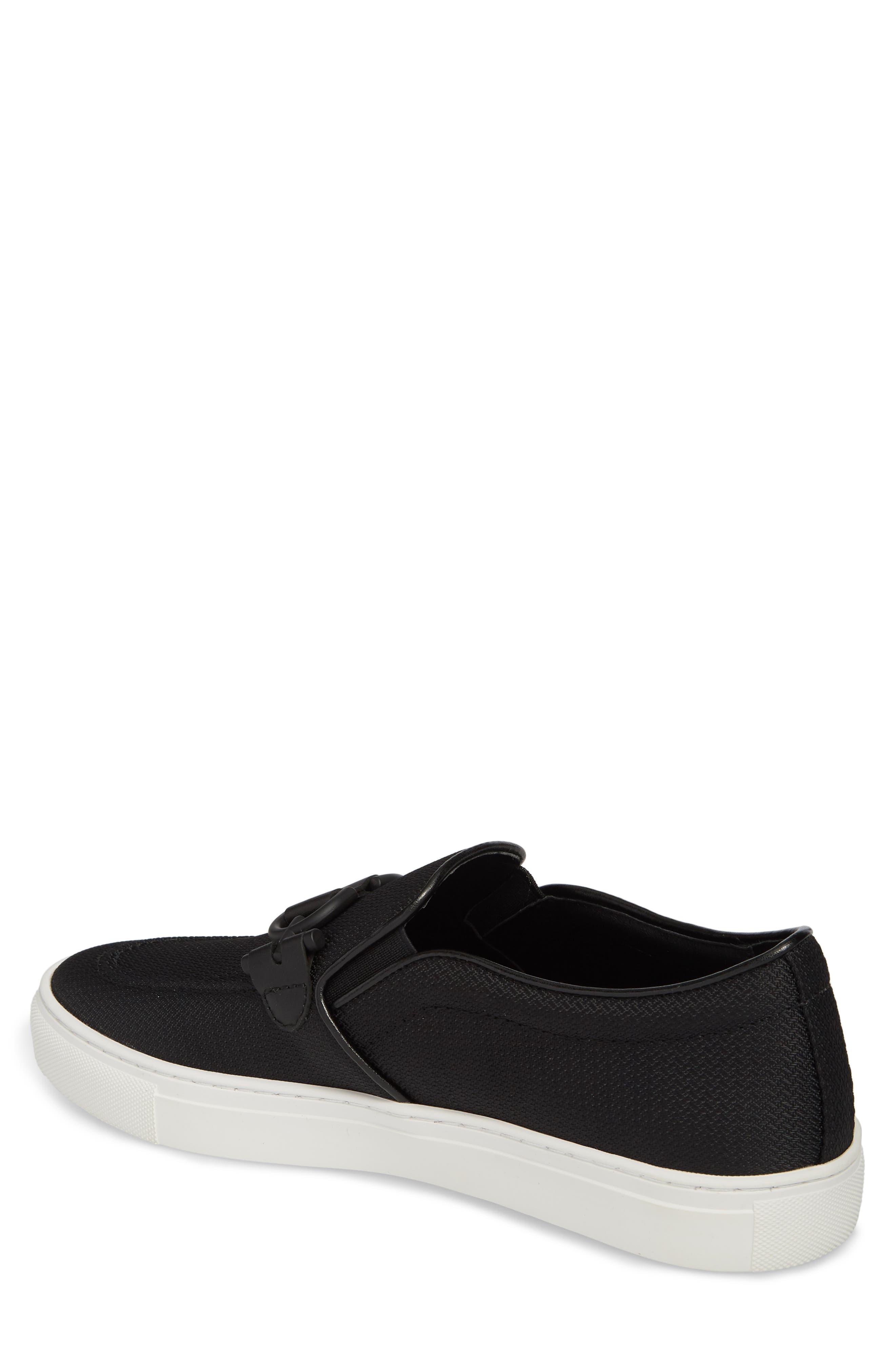 Andor Bit Slip-On Sneaker,                             Alternate thumbnail 2, color,                             Black Mesh