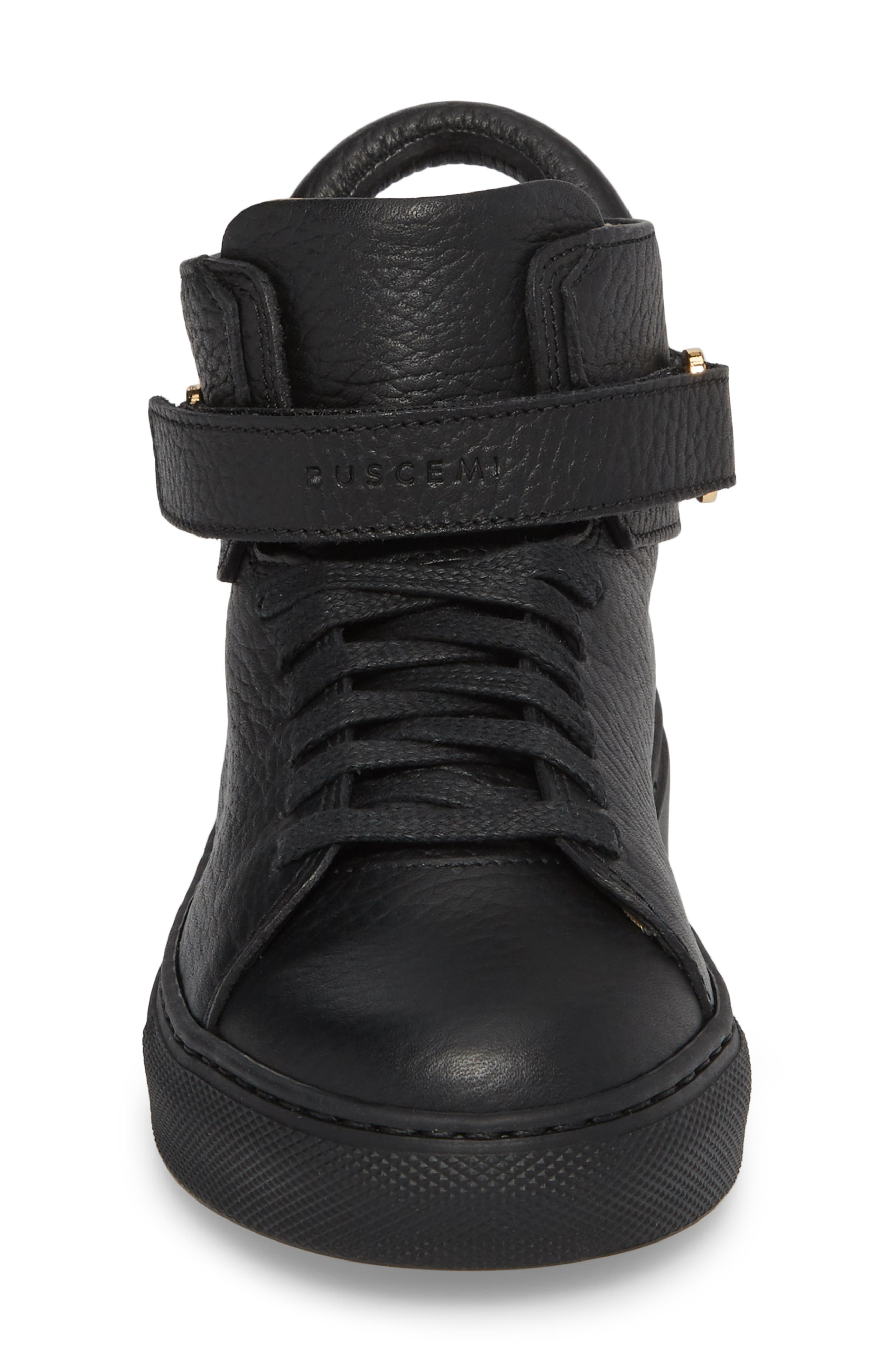 High Top Sneaker,                             Alternate thumbnail 4, color,                             Black