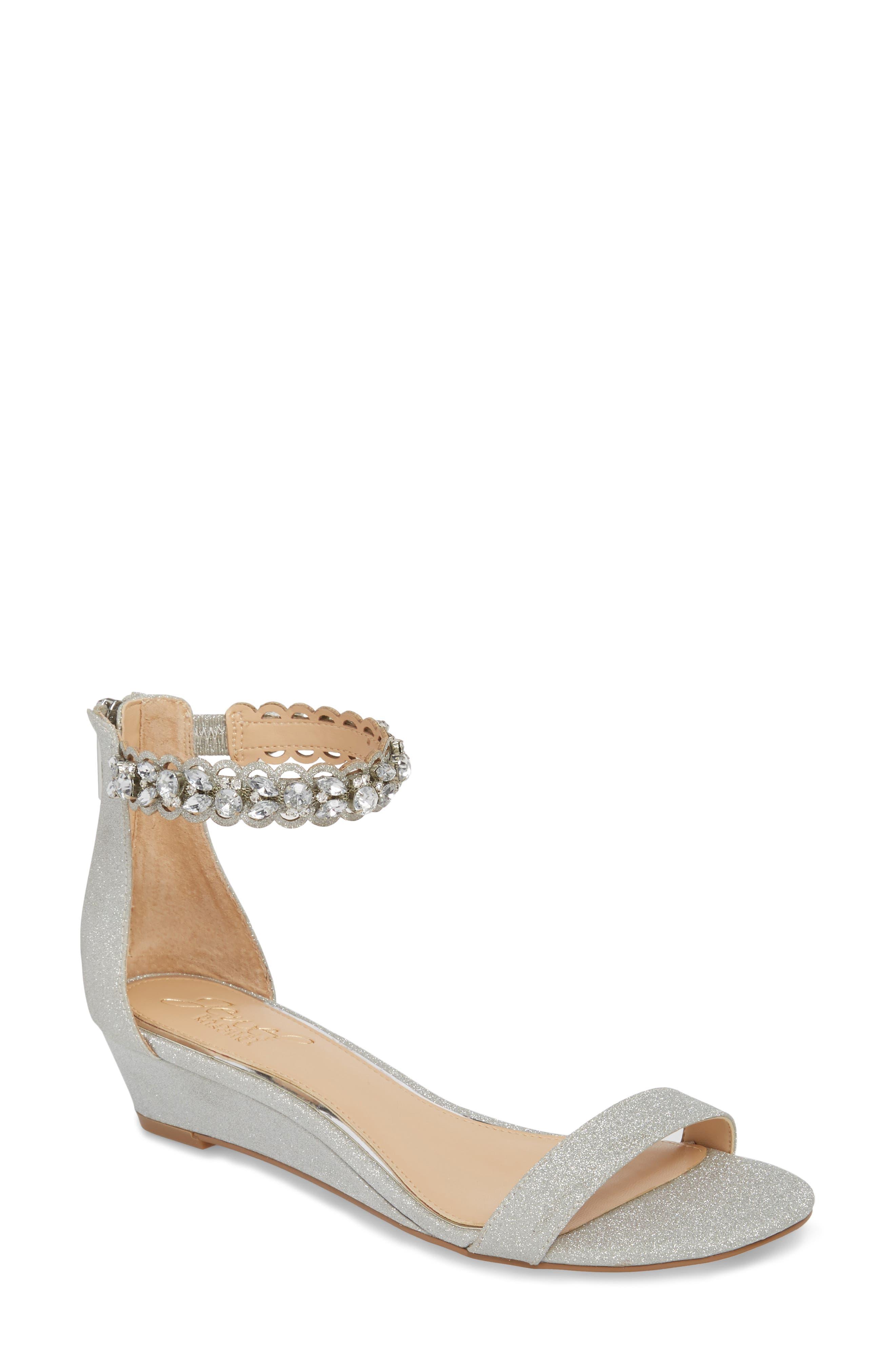 Jewel Badgley Mischka Ginger Wedge Sandal (Women)