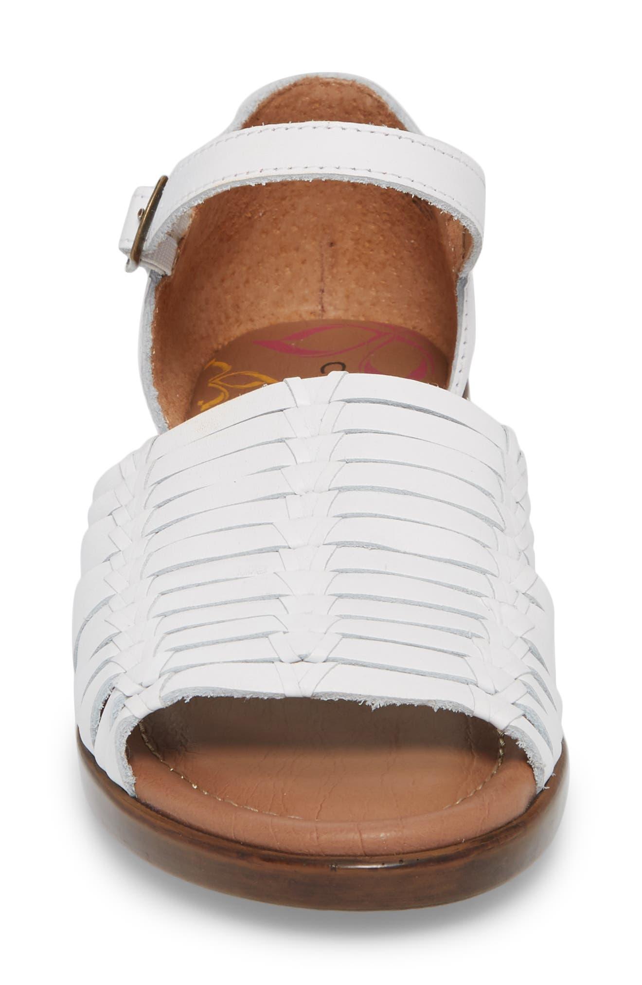 Fayann Sandal,                             Alternate thumbnail 4, color,                             White Leather