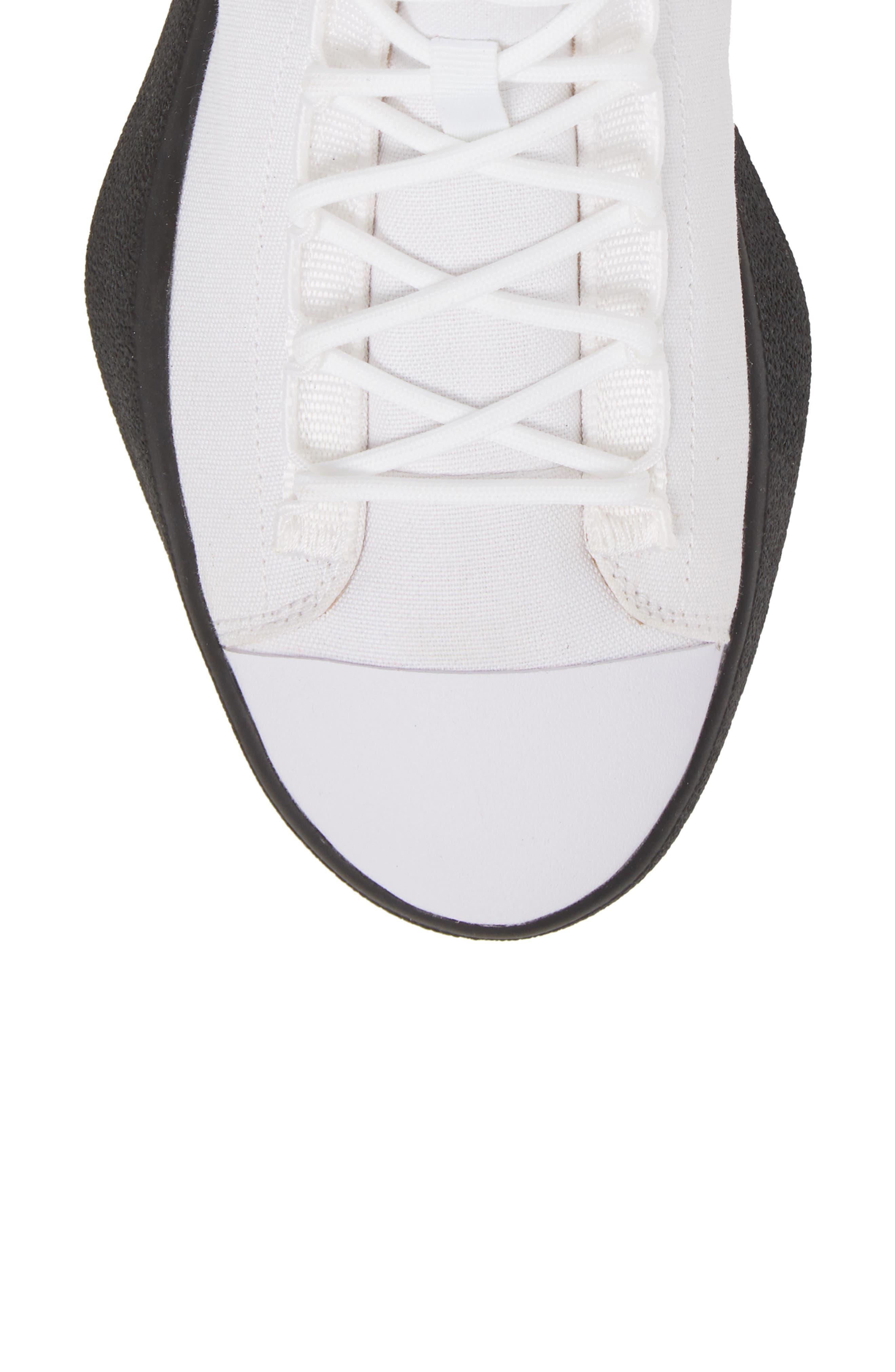 Bashyo High Top Sneaker,                             Alternate thumbnail 5, color,                             White/ Black