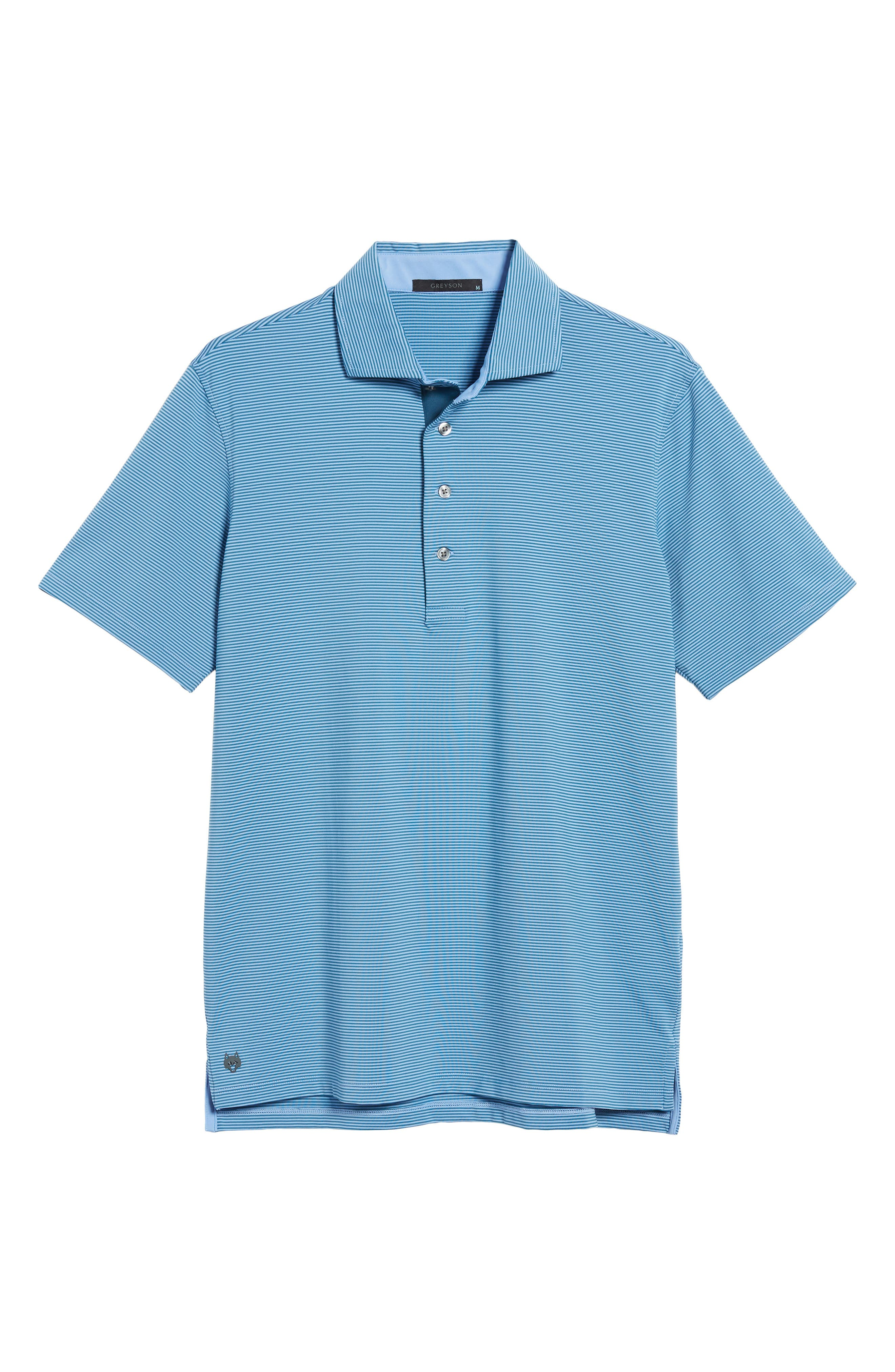 Saranac Airflow Jersey Polo,                             Alternate thumbnail 6, color,                             Ice/ Caymen