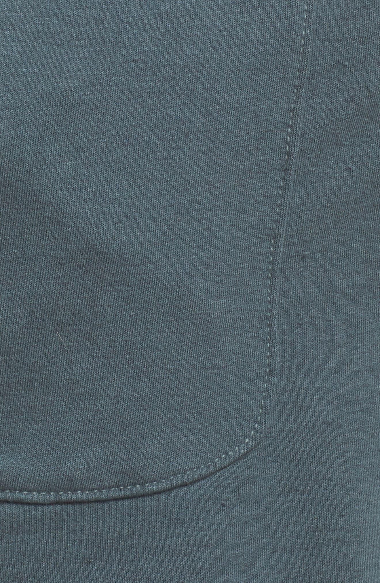 Raw Cut Lounge Shorts,                             Alternate thumbnail 6, color,                             Gunmetal