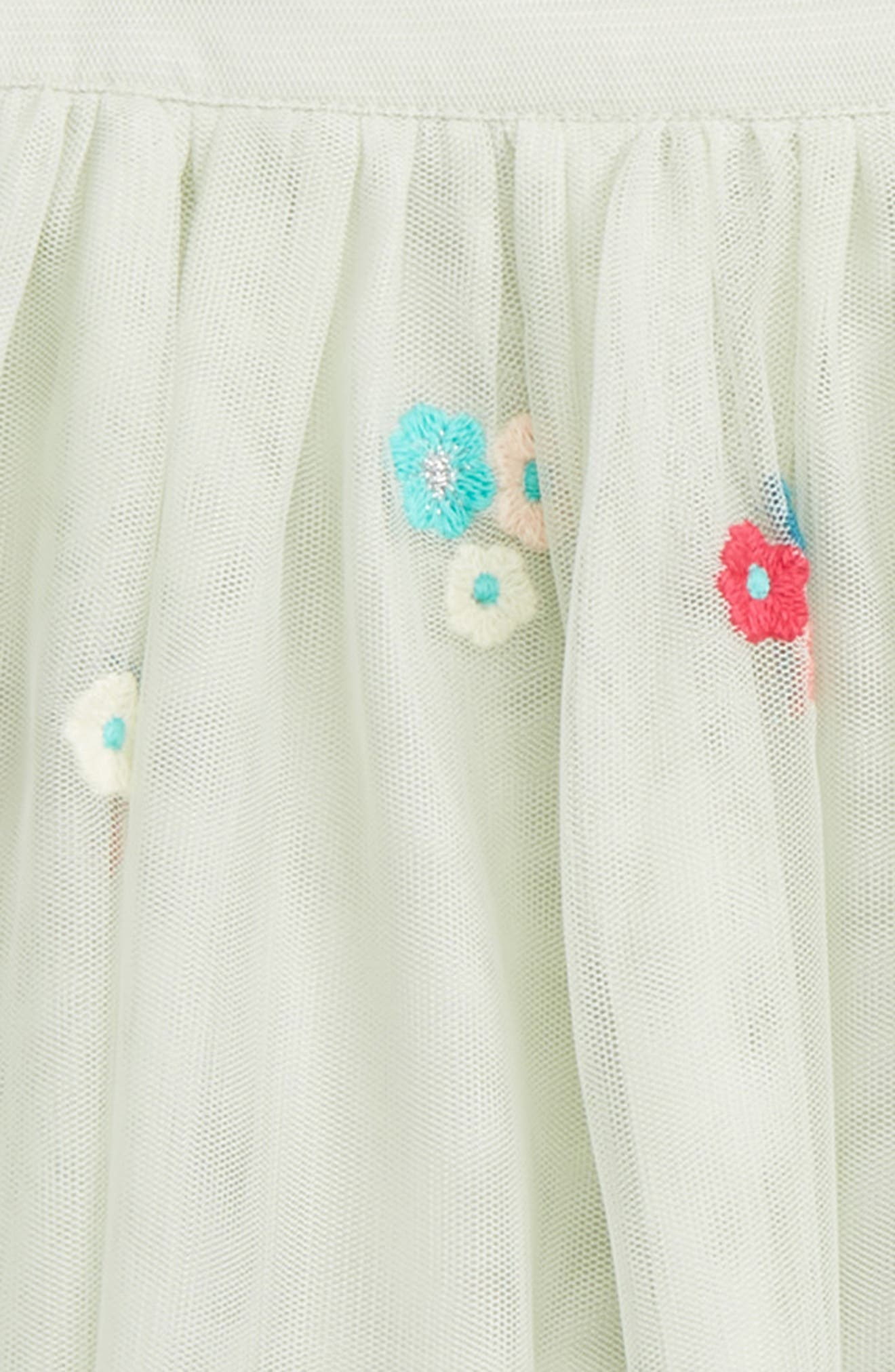 Victoria Embroidered Tulle Skirt,                             Alternate thumbnail 2, color,                             Mint