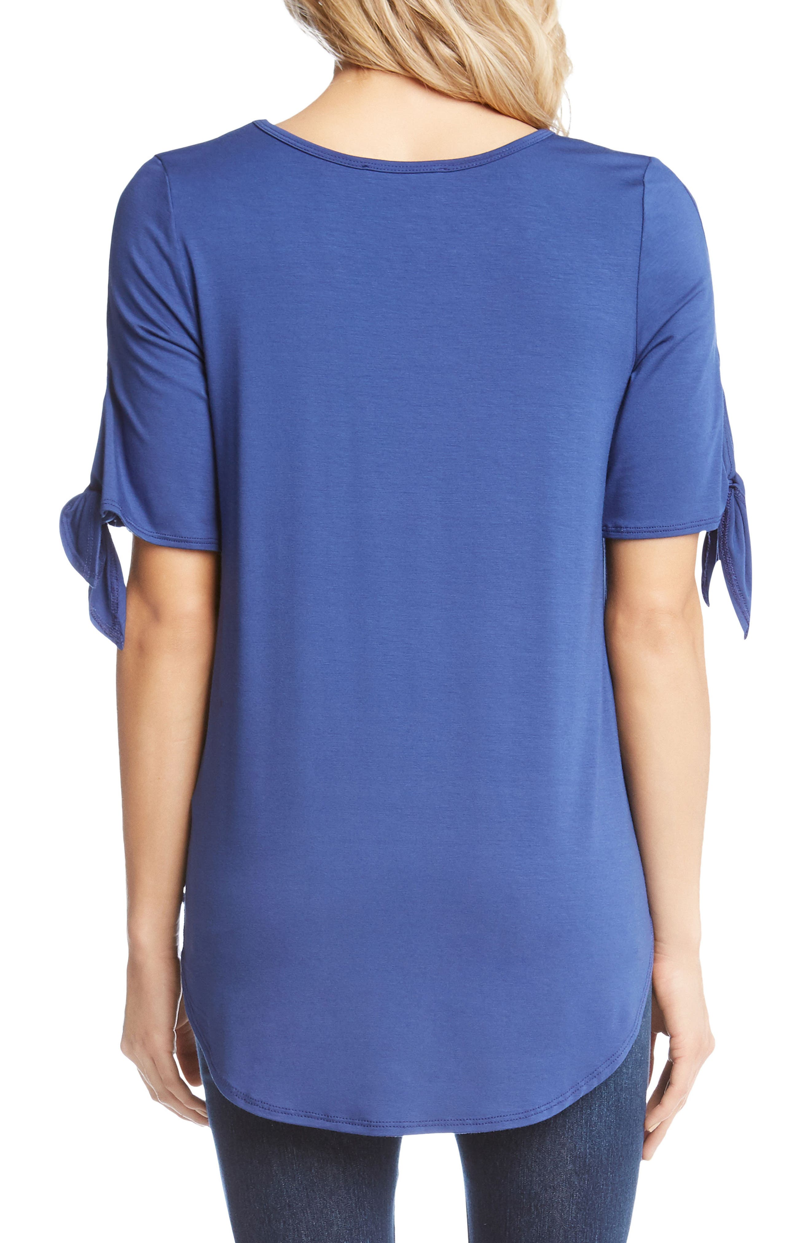Knot Sleeve Top,                             Alternate thumbnail 2, color,                             Iris