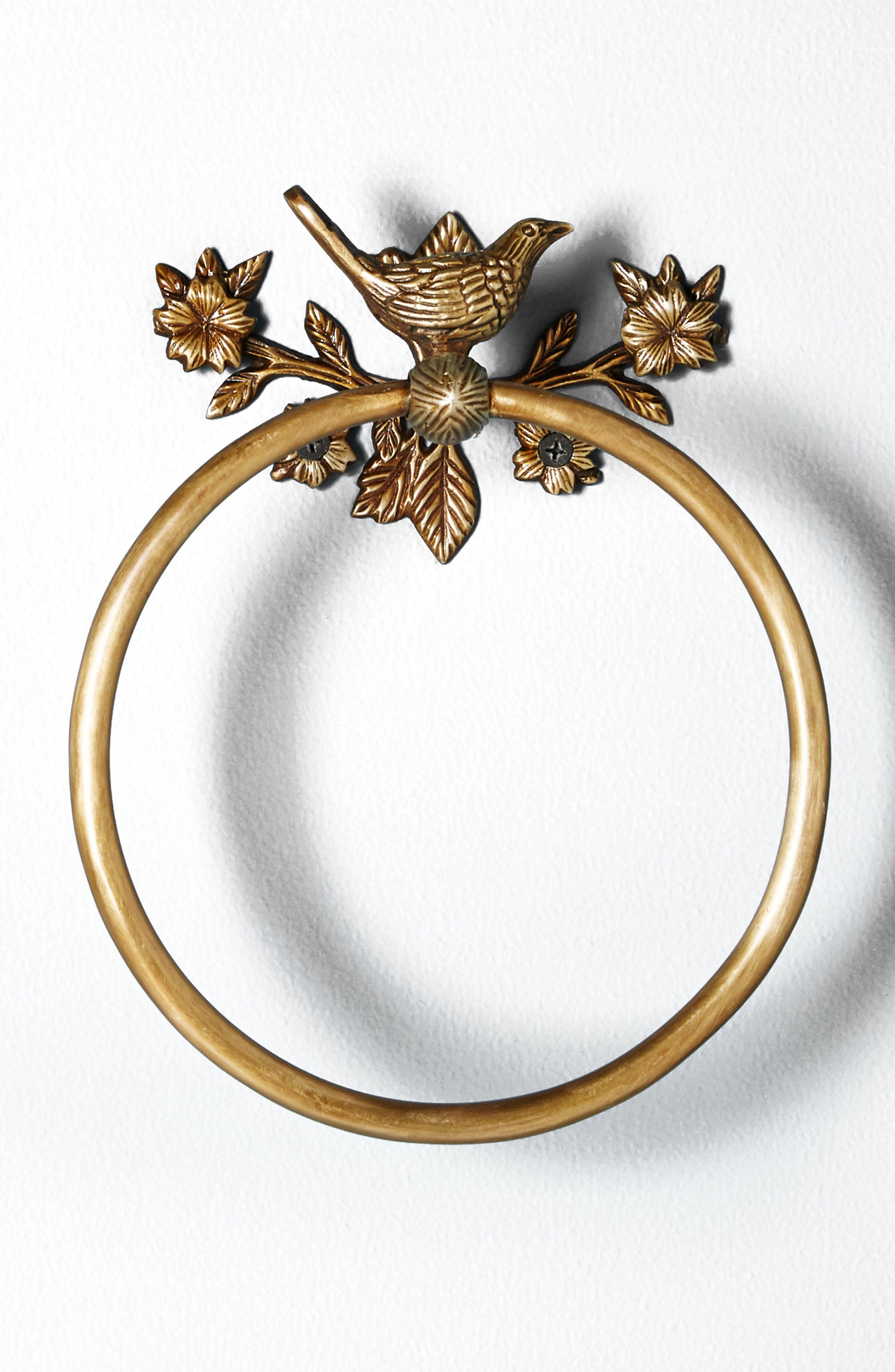 Everlee Towel Ring,                             Alternate thumbnail 4, color,                             Bronze