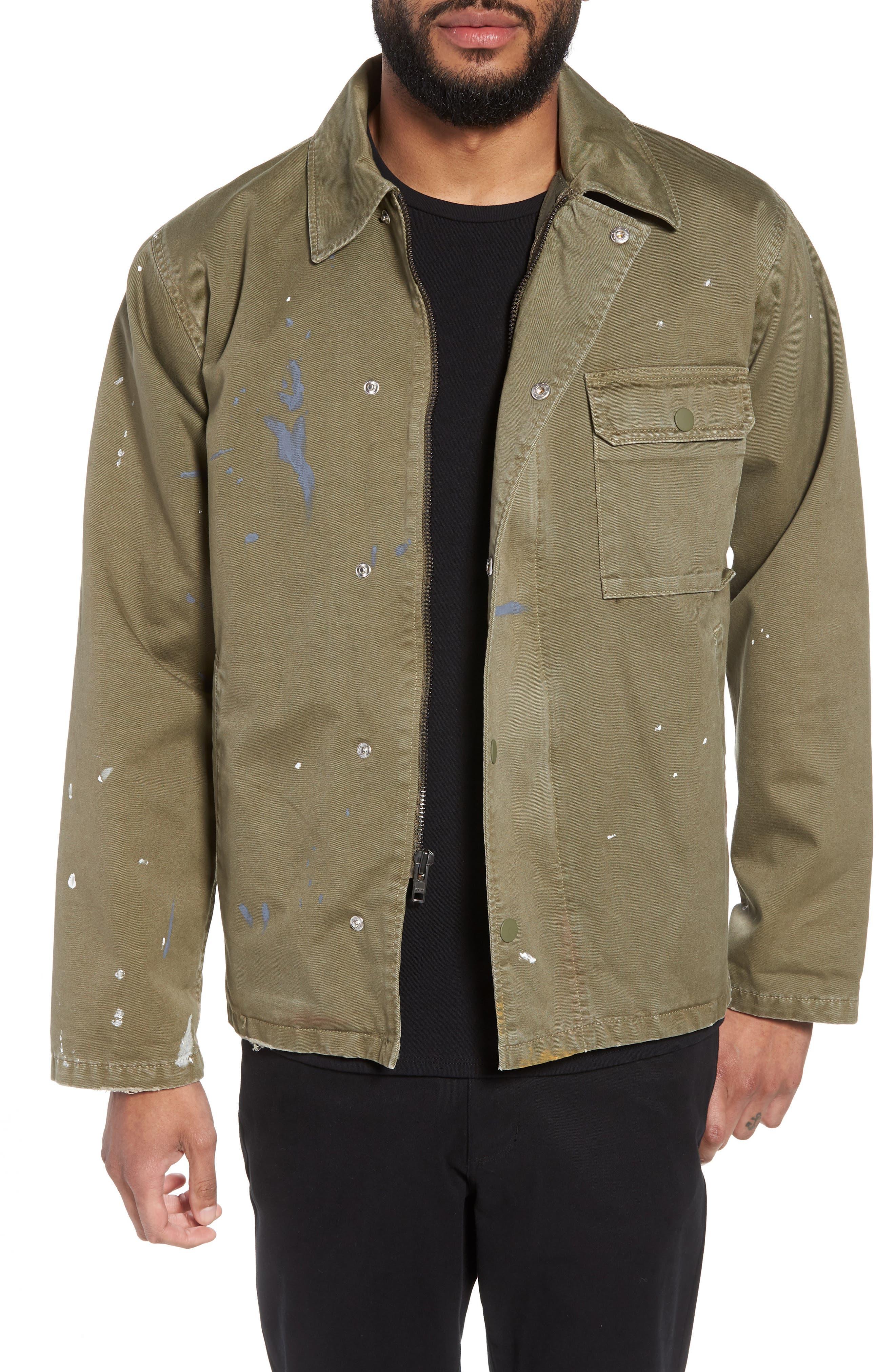Hudson Military Jacket,                             Main thumbnail 1, color,                             Army Paint