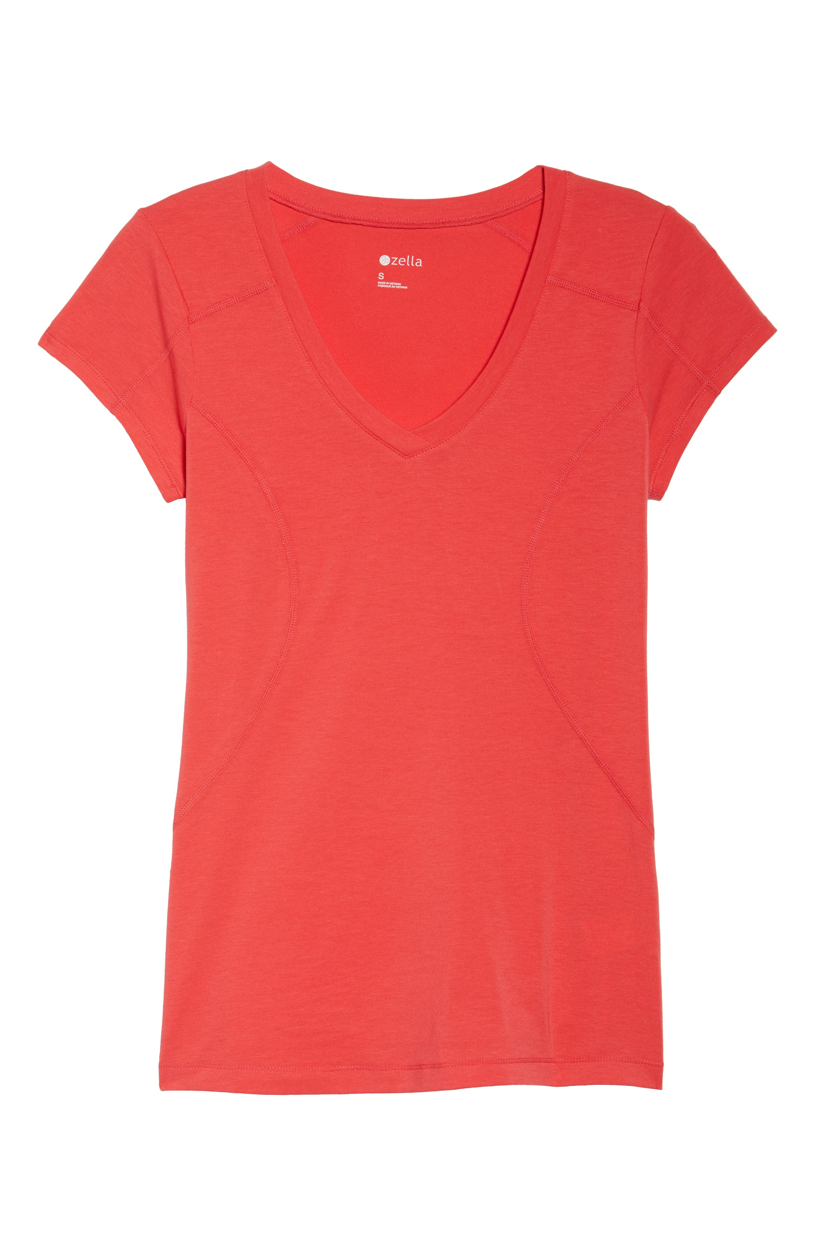Z Tee,                             Alternate thumbnail 7, color,                             Red Hibiscus