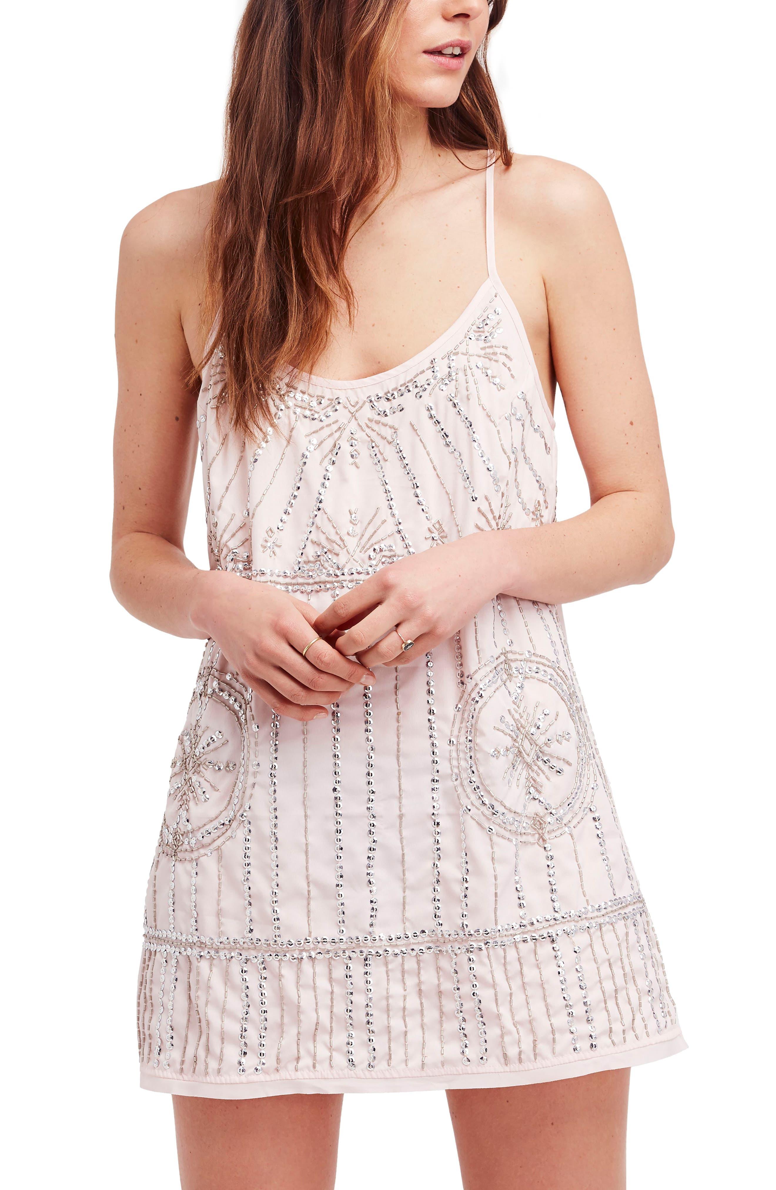 Sedona Embellished Slipdress,                         Main,                         color, Rose