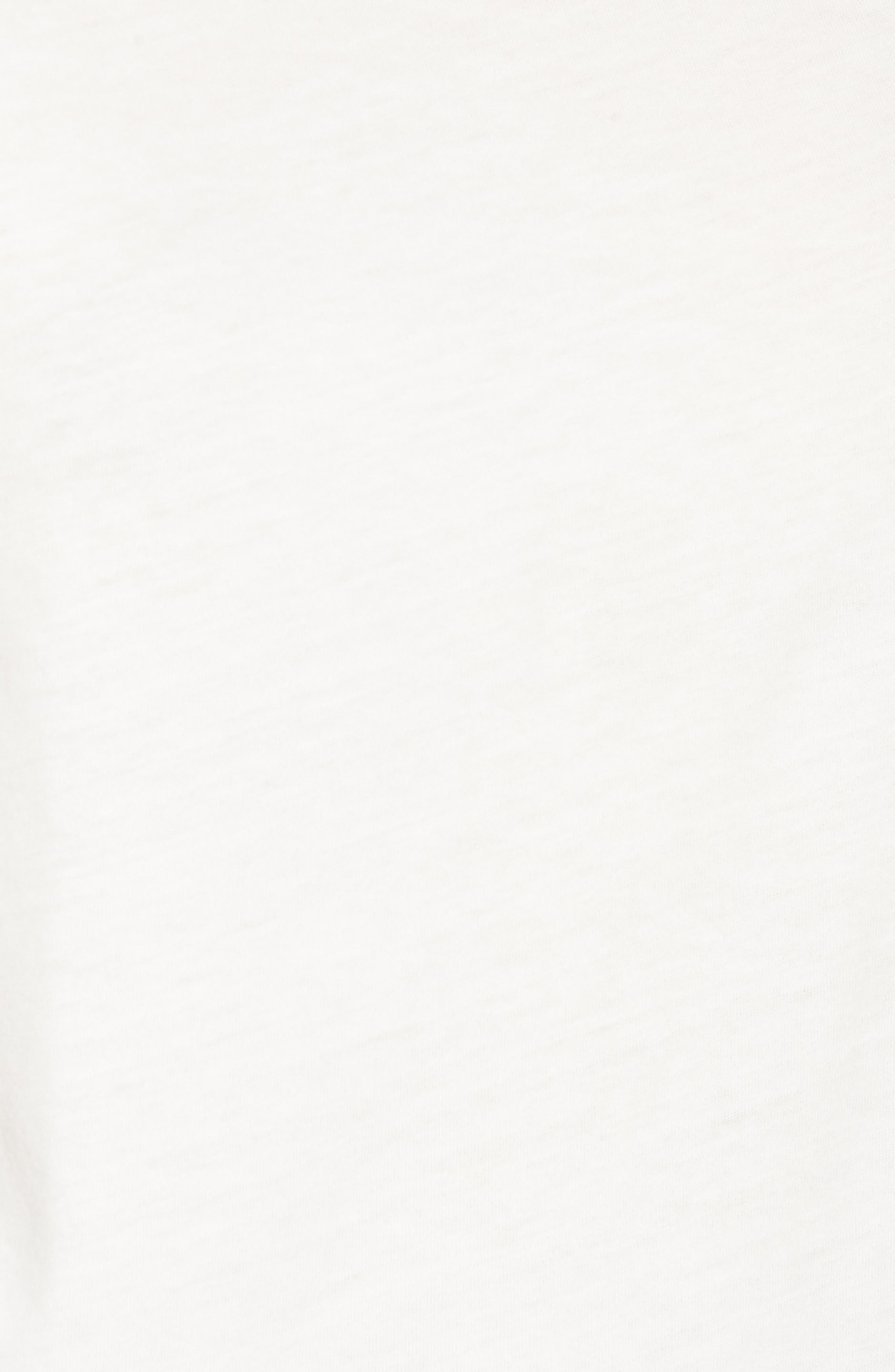 Boutique Topstitch Tee,                             Alternate thumbnail 5, color,                             White