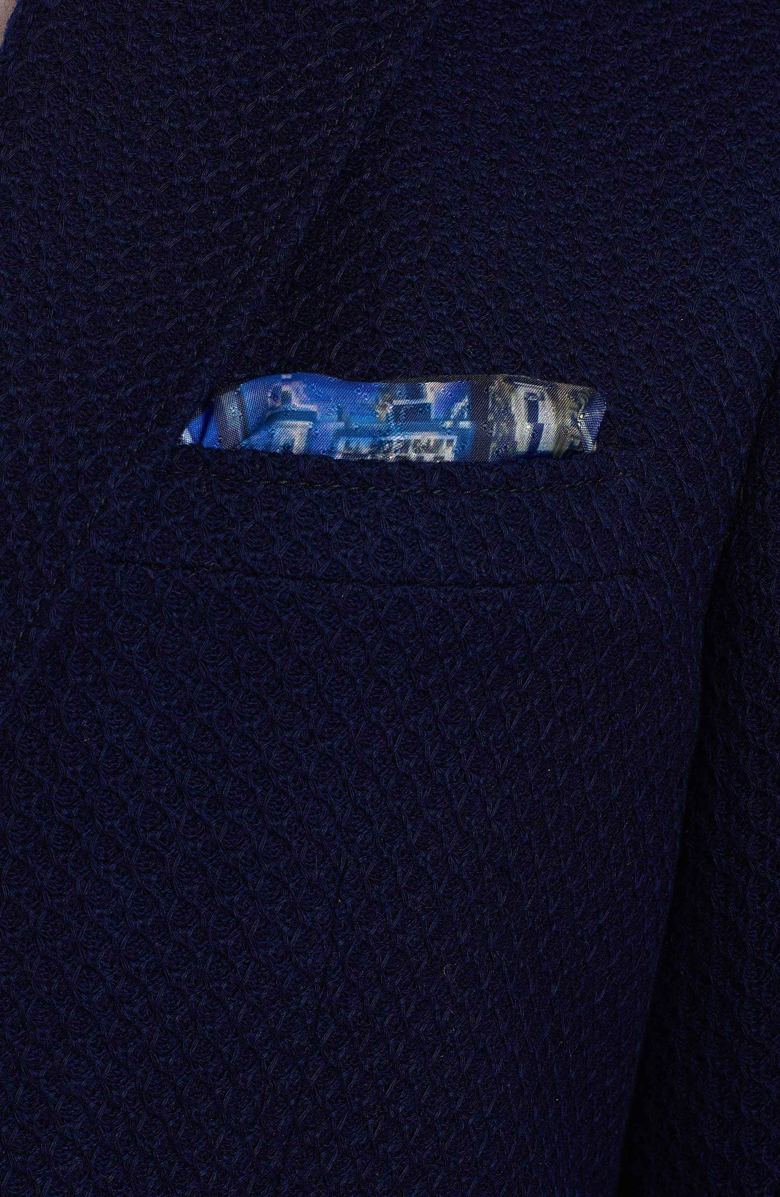 Lauros Woven Sport Coat,                             Alternate thumbnail 3, color,                             Navy