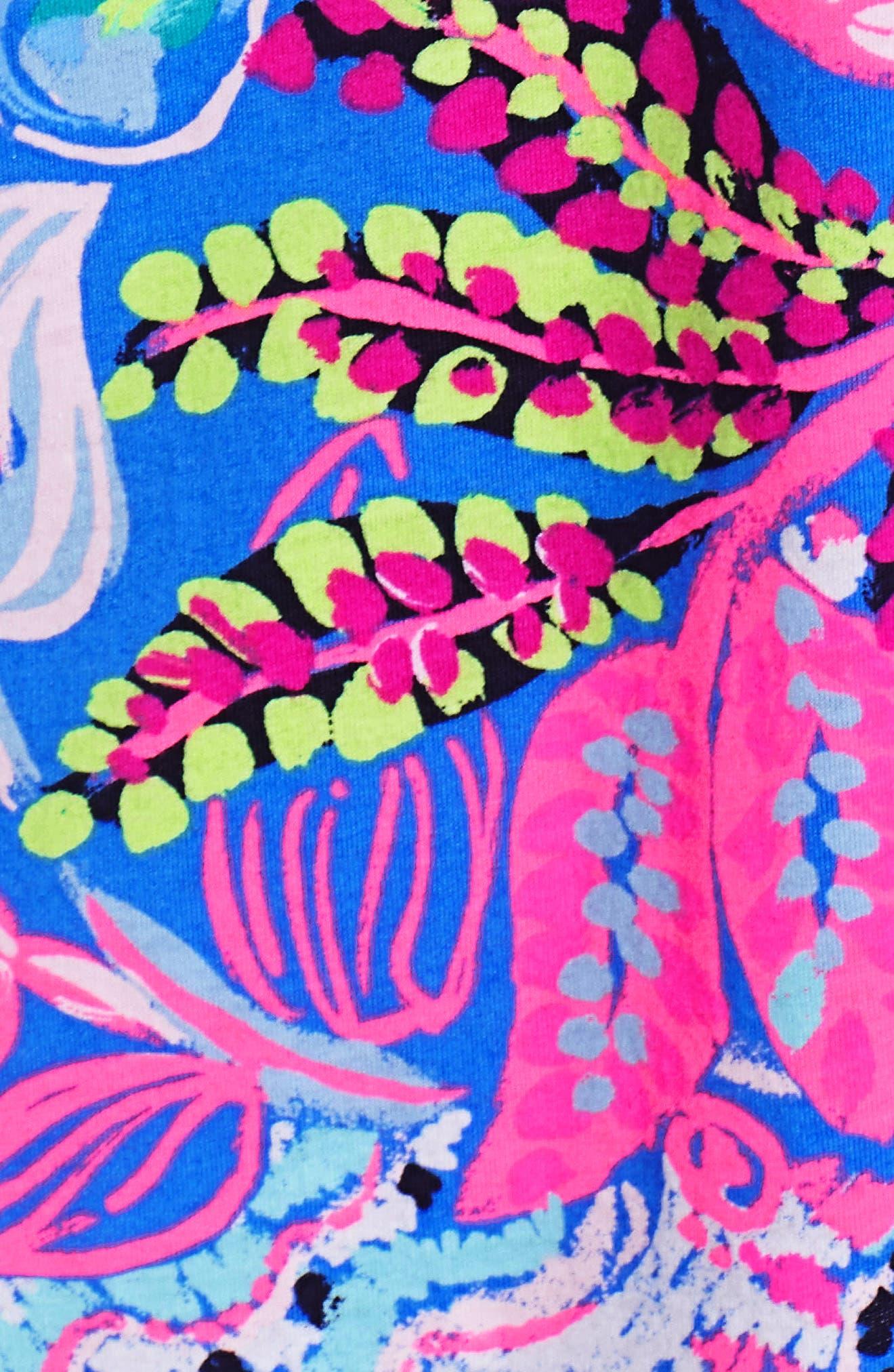 Amina Swing Dress,                             Alternate thumbnail 5, color,                             Multi Fantasy Garden