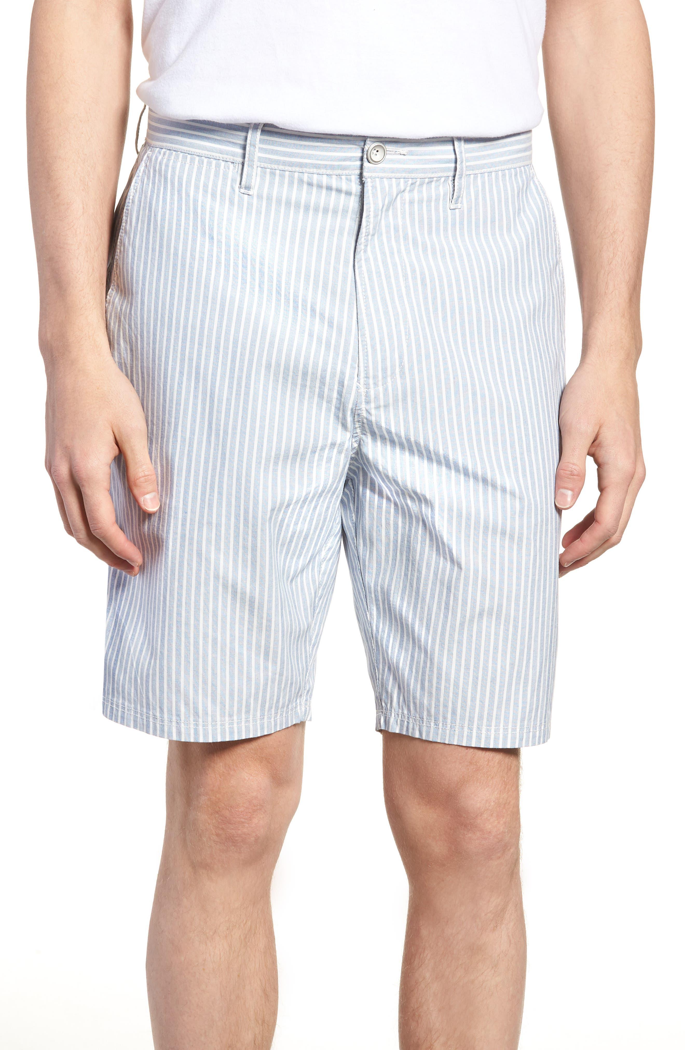 Preston Regular Fit Flat Front Shorts,                         Main,                         color, Pacific