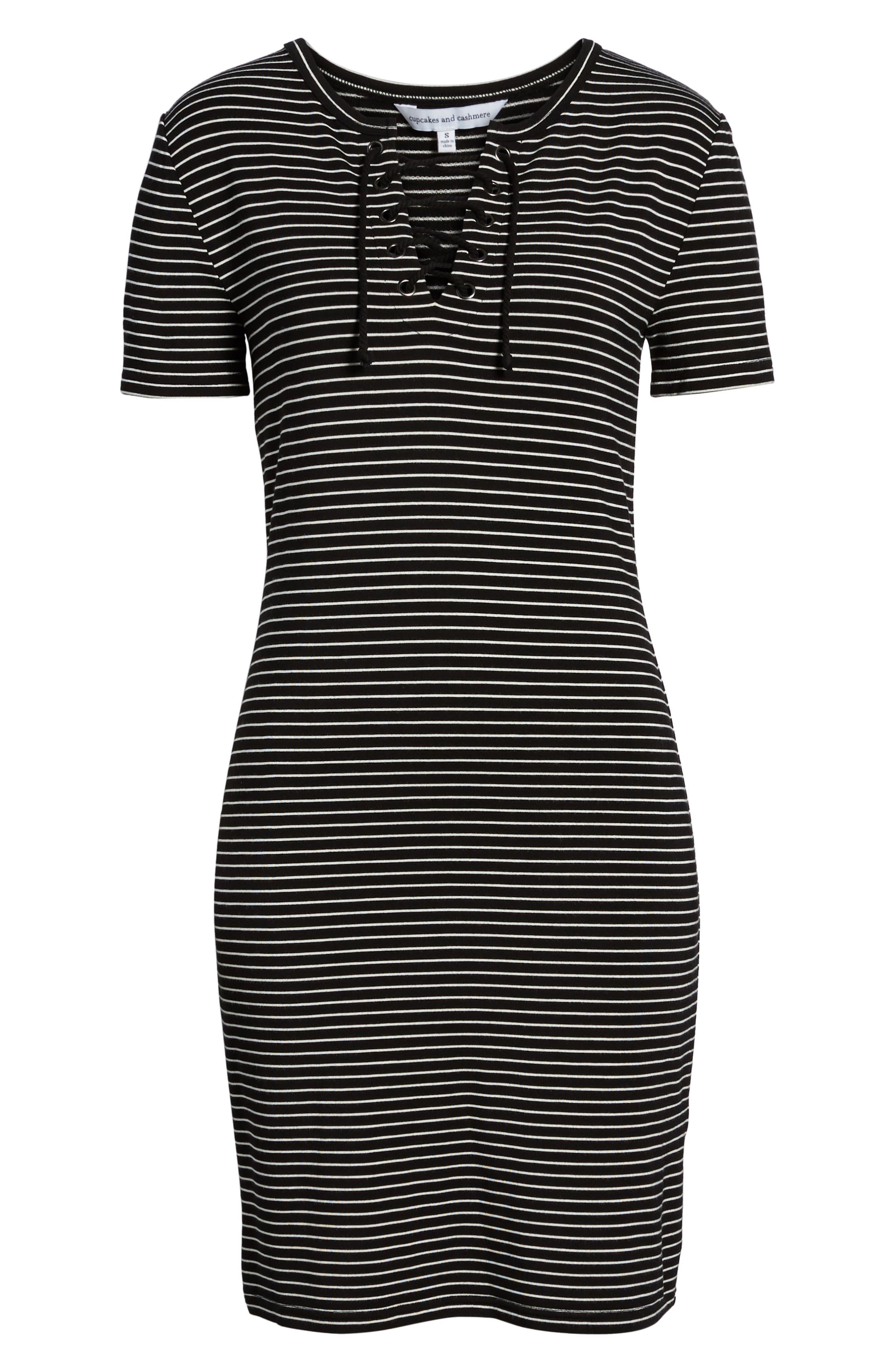 Destiny Sheath Dress,                             Alternate thumbnail 6, color,                             Black