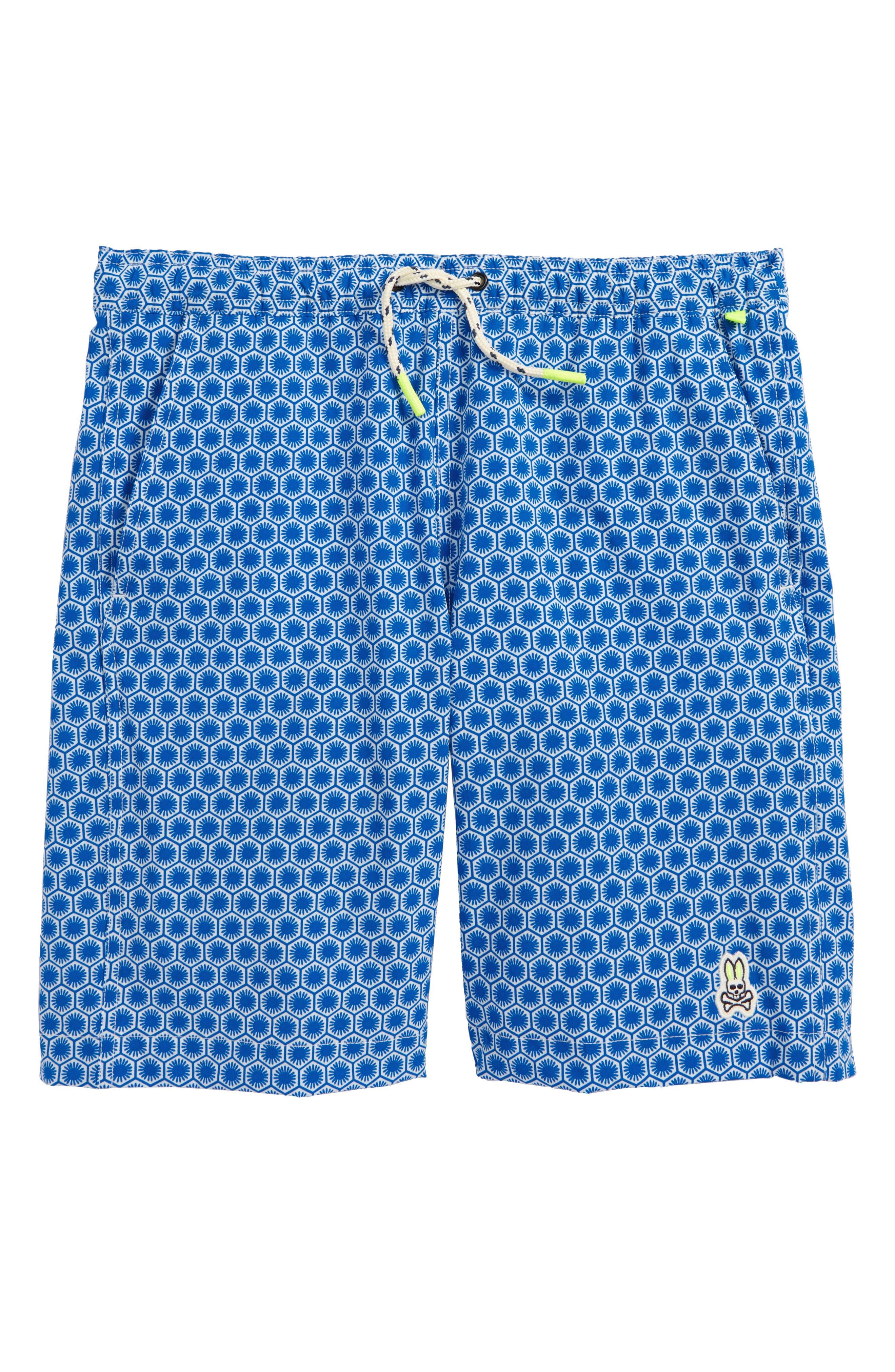 Honeycomb Board Shorts,                         Main,                         color, Lapis