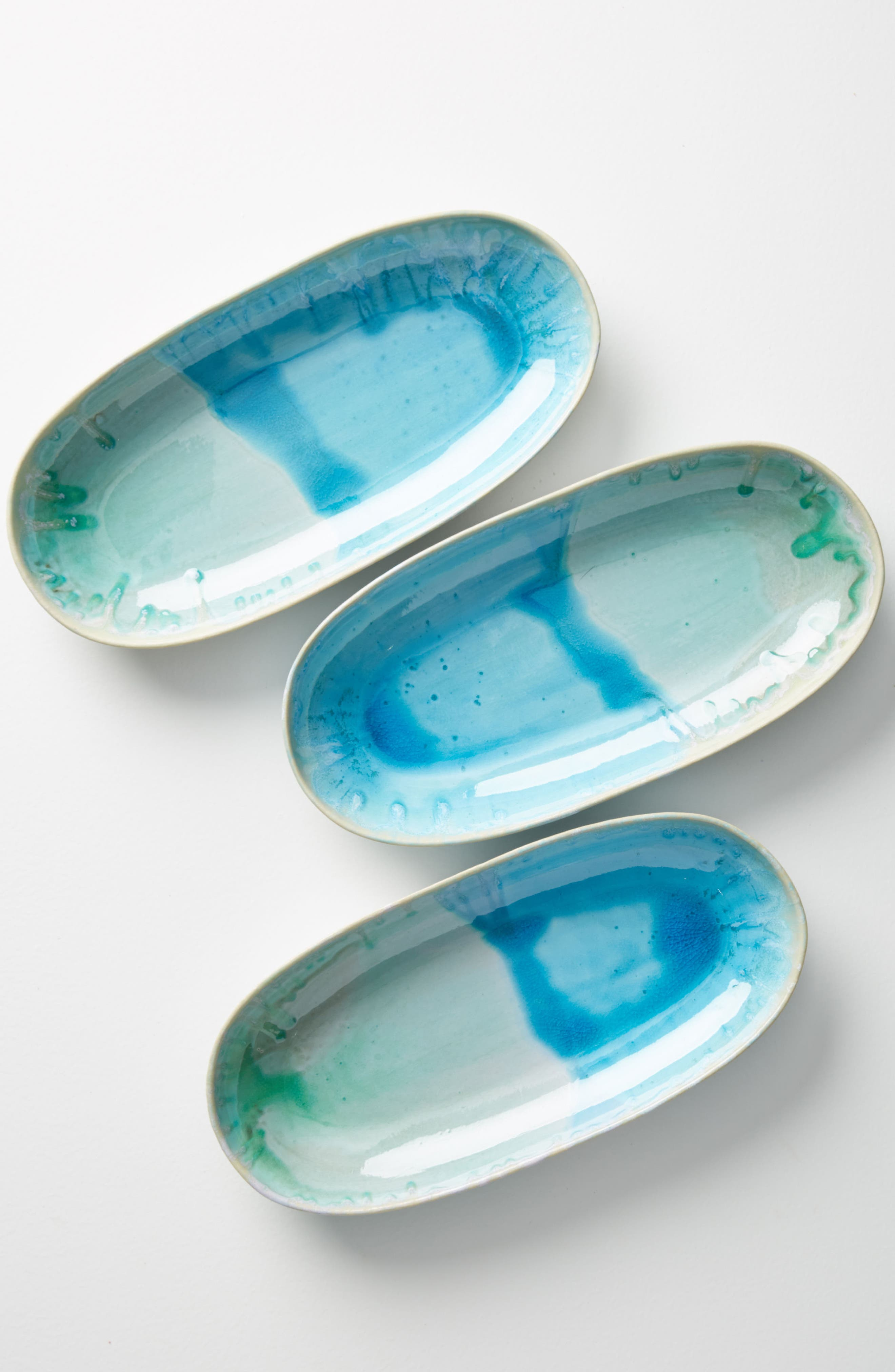 Piet Small Platter,                             Main thumbnail 1, color,                             Turquoise