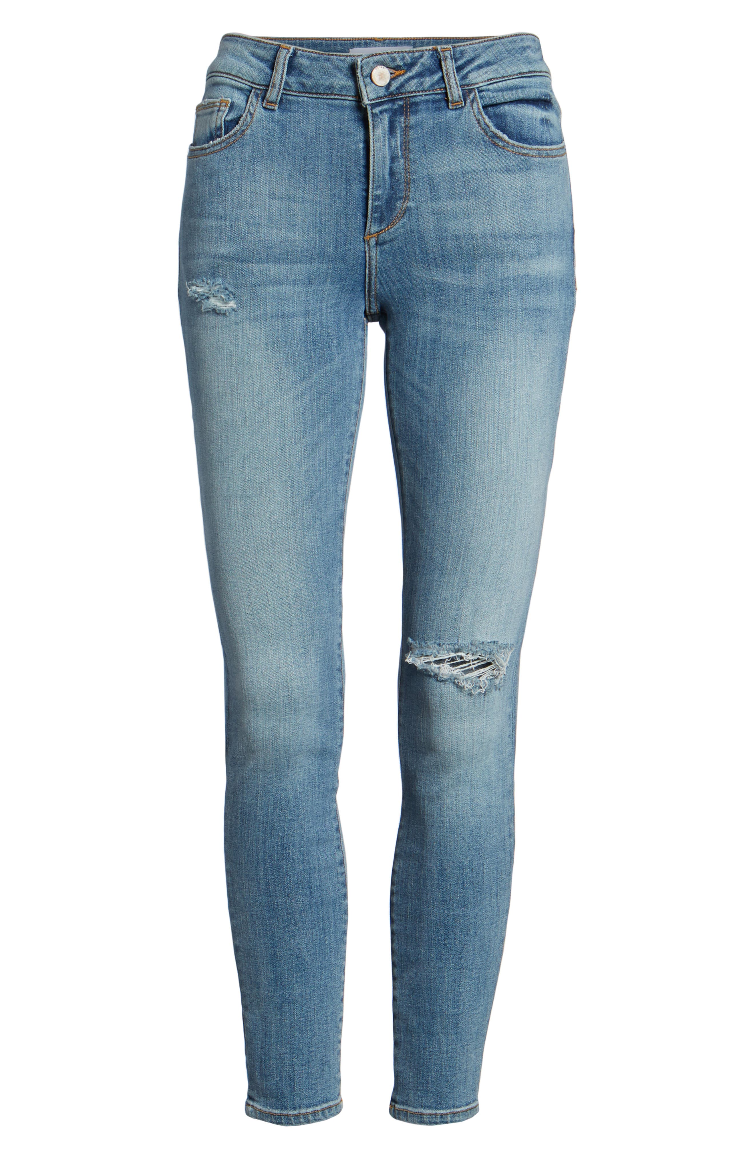 Margaux Instasculpt Ankle Skinny Jeans,                             Alternate thumbnail 7, color,                             Quincy
