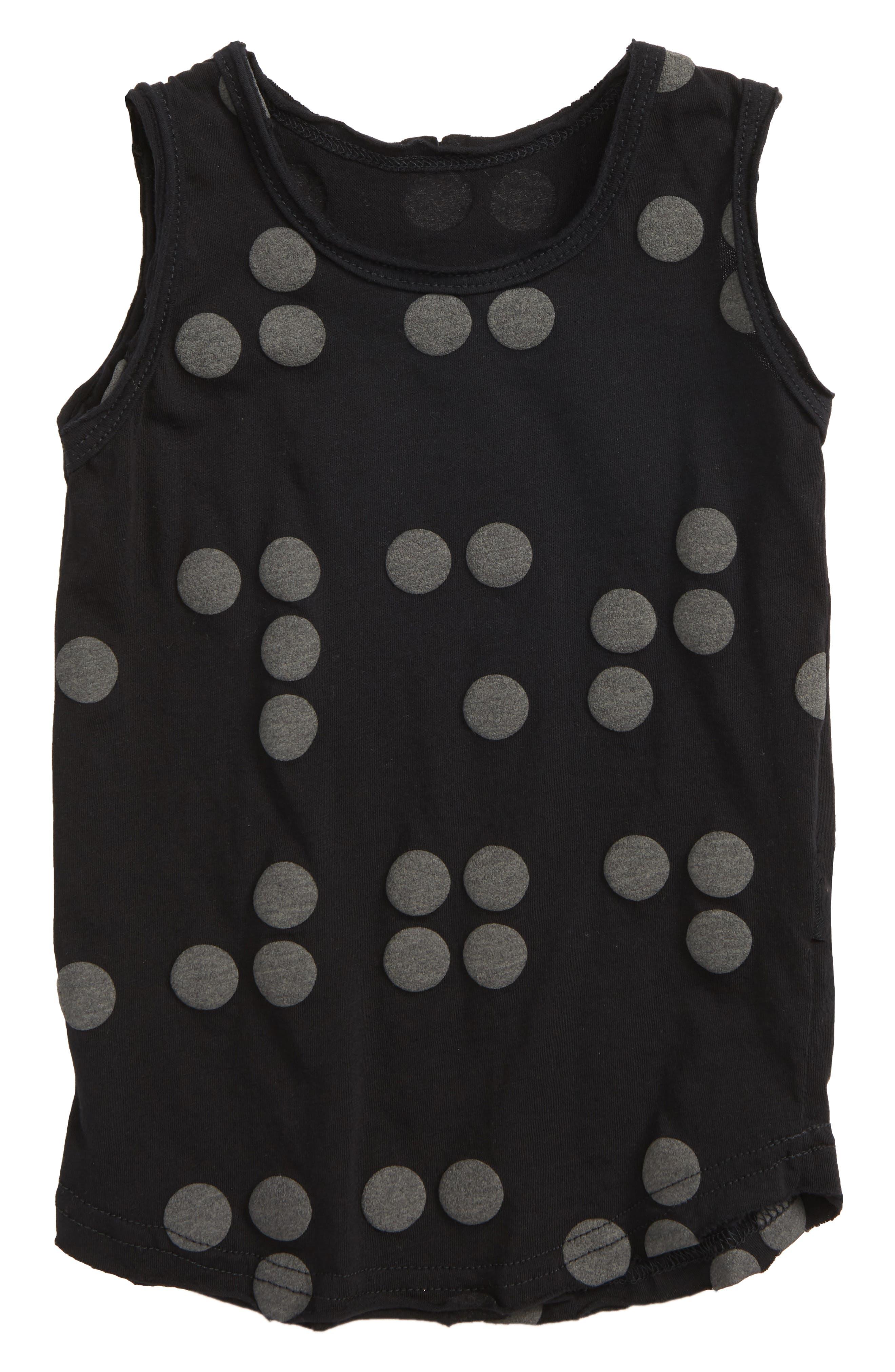 Braille Dot Tank,                             Main thumbnail 1, color,                             Black