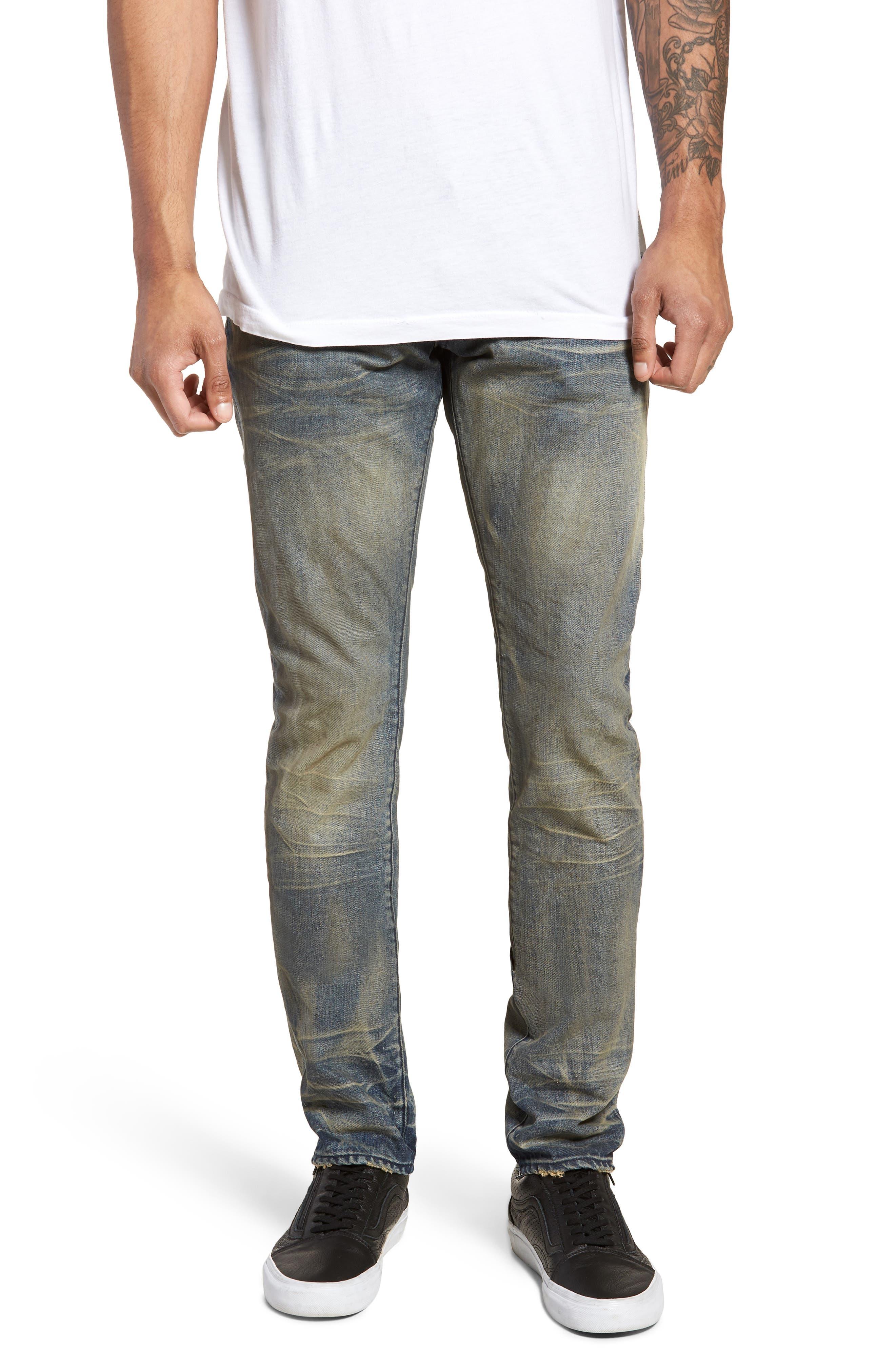 Denim Slim Straight Leg Jeans,                         Main,                         color, Evidence
