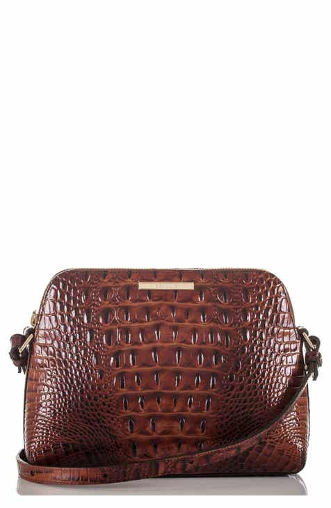 8f6e573581 Brahmin Mini Syndey Embossed Leather Crossbody Bag