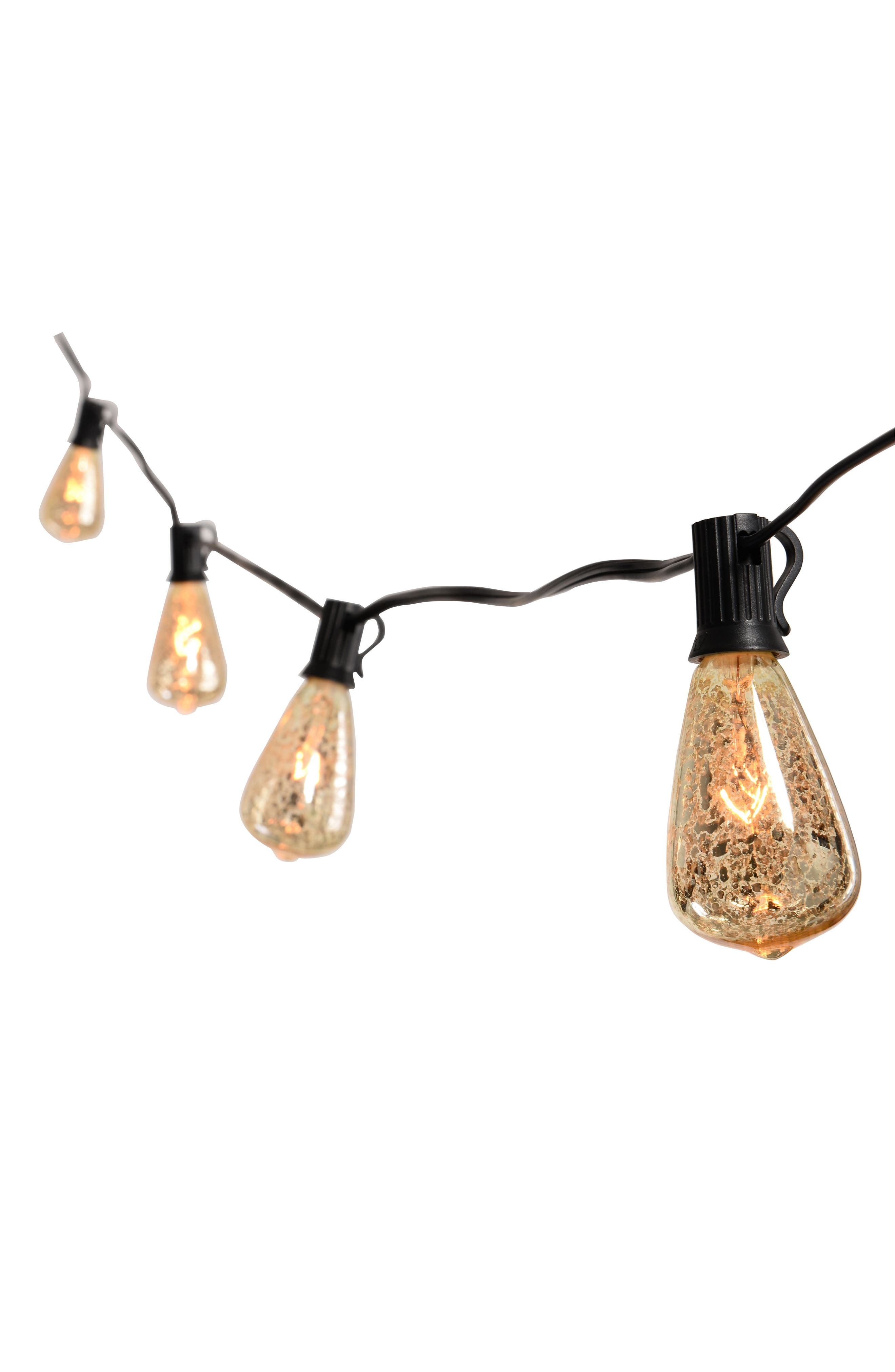 JAlexander Mercury Edison String Lights,                         Main,                         color, Silver