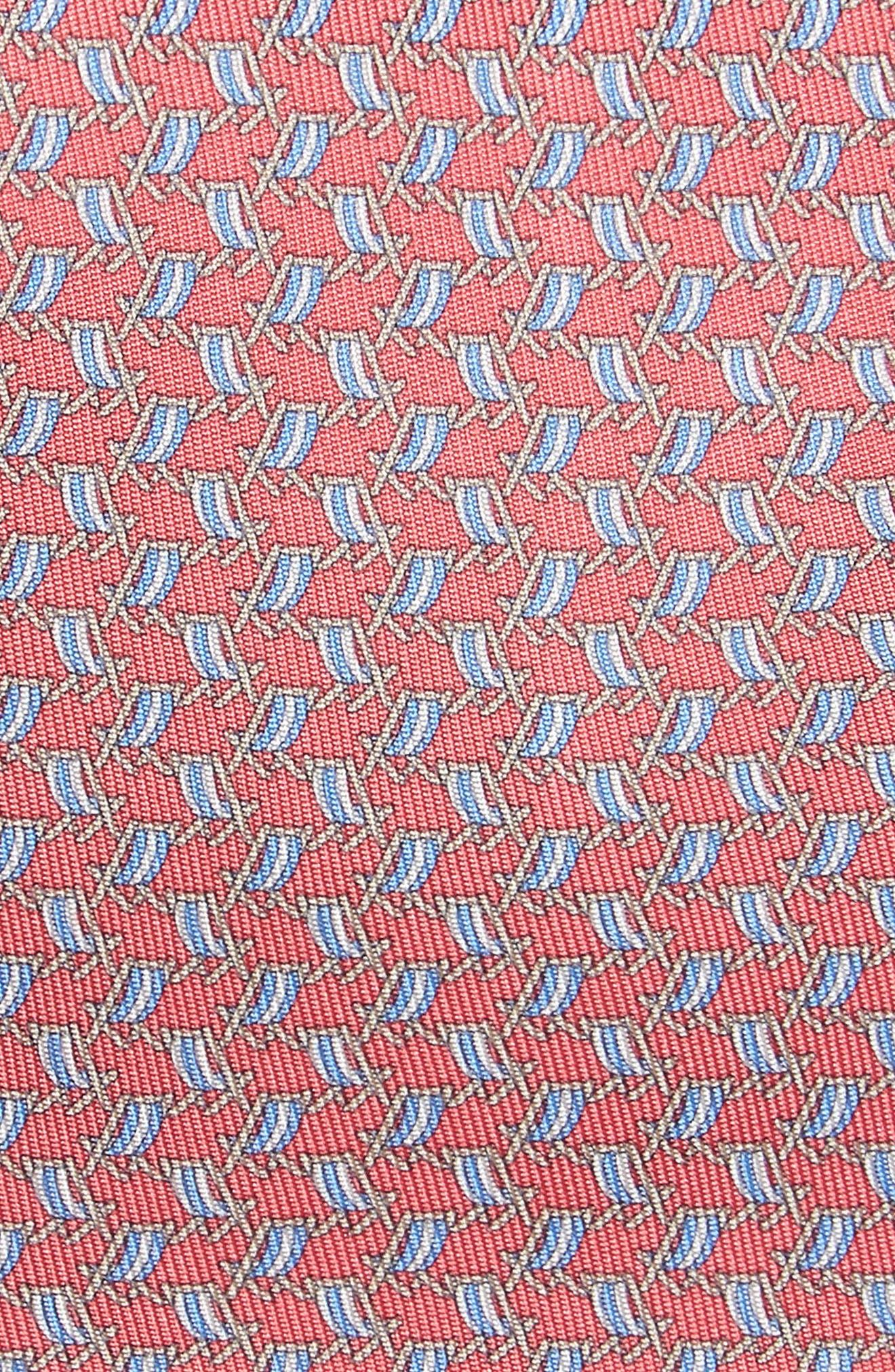 Ersilia Print Silk Tie,                             Alternate thumbnail 2, color,                             Pink