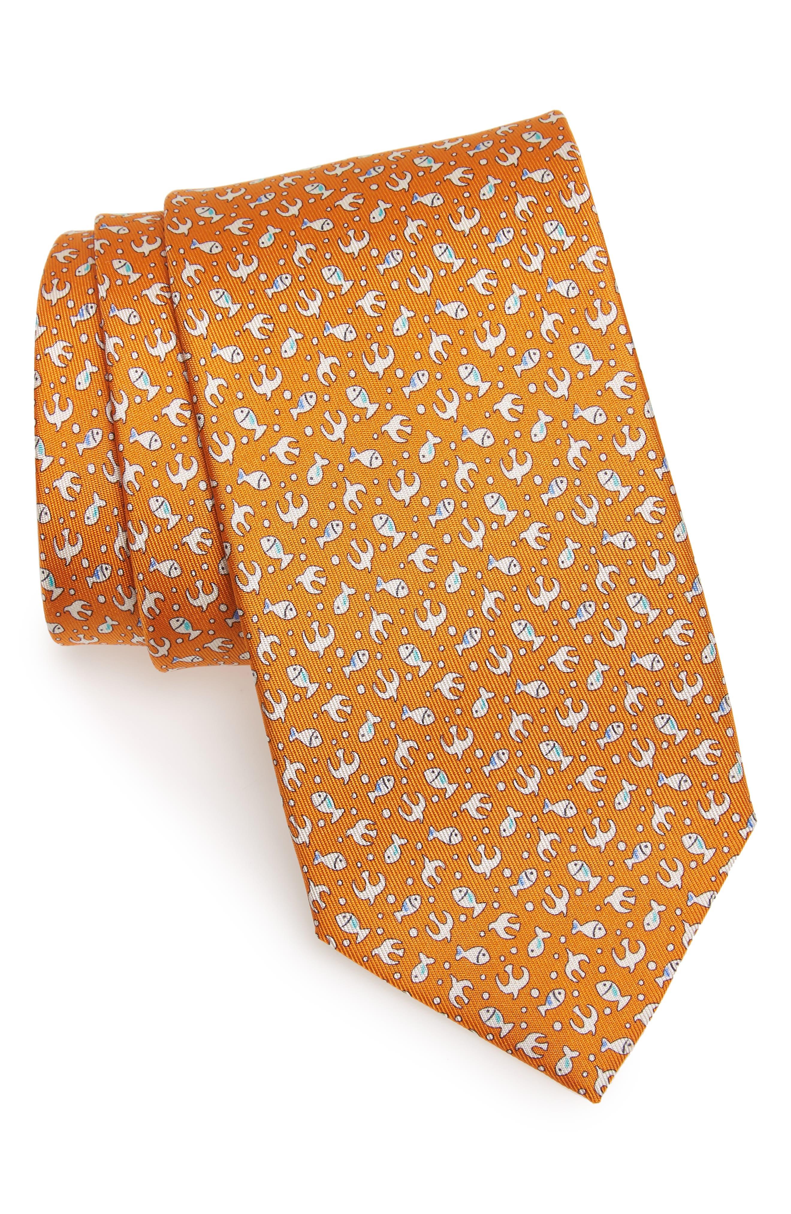 Salvatore Ferragamo Ever Print Silk Tie