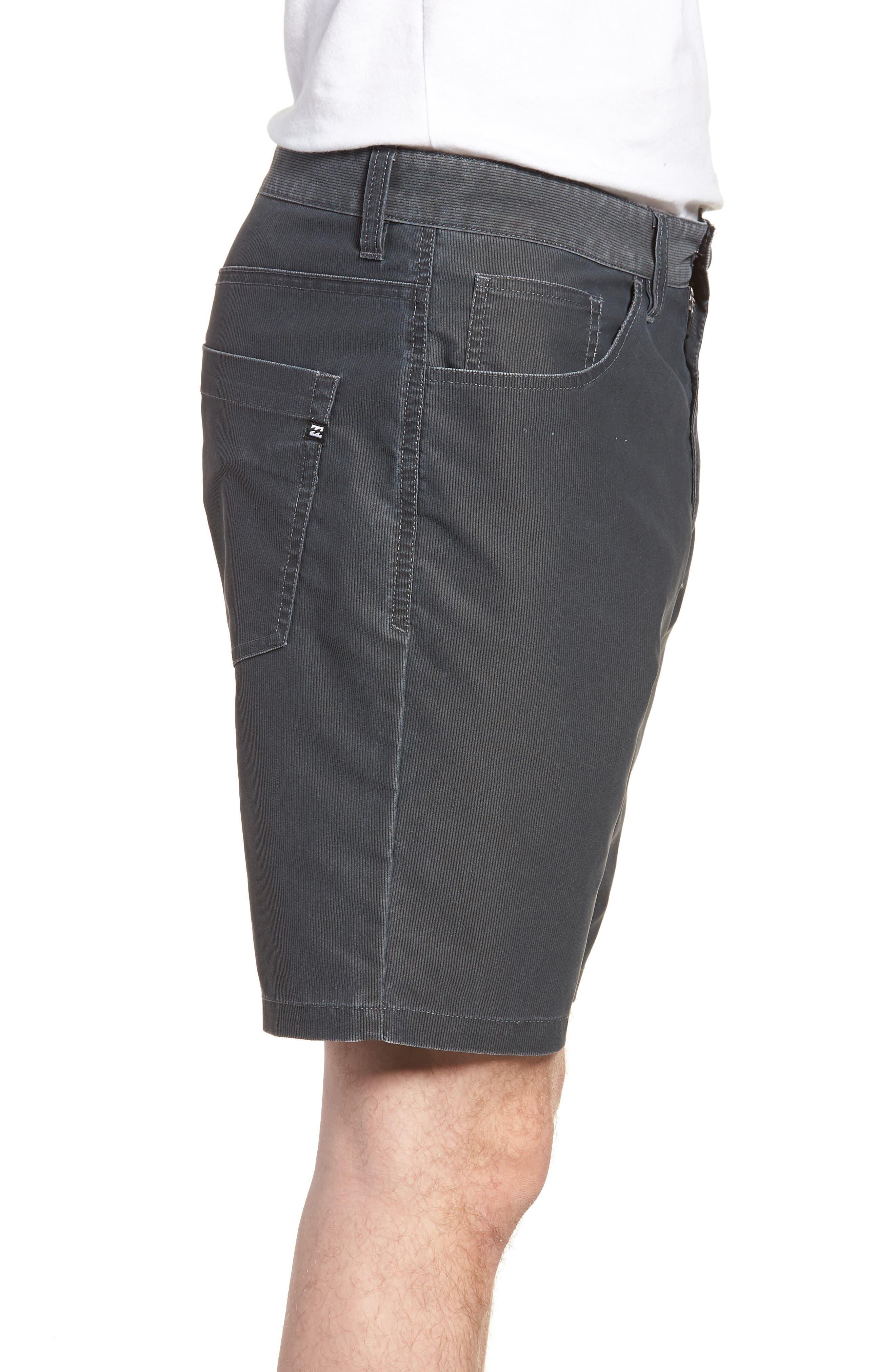 Outsider X Surf Corduroy Shorts,                             Alternate thumbnail 2, color,                             Black