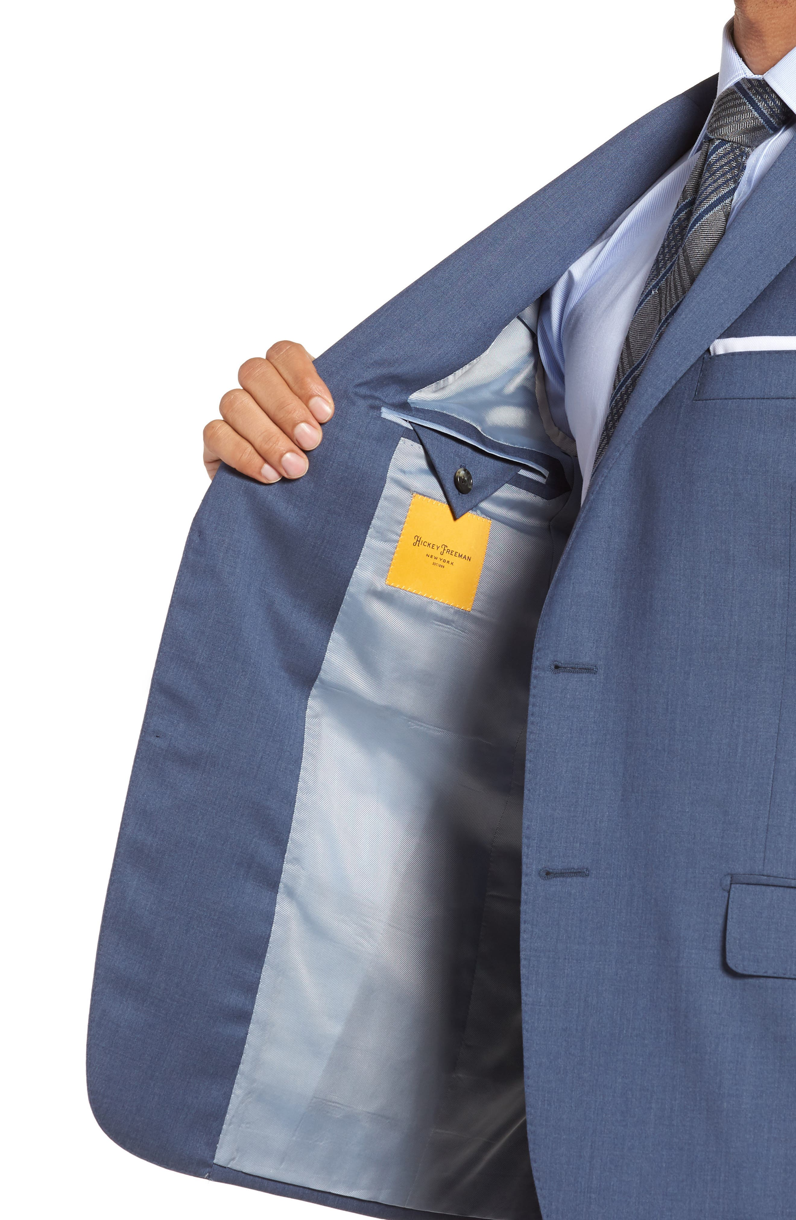 Alternate Image 4  - Hickey Freeman Classic B Fit Solid Wool Suit