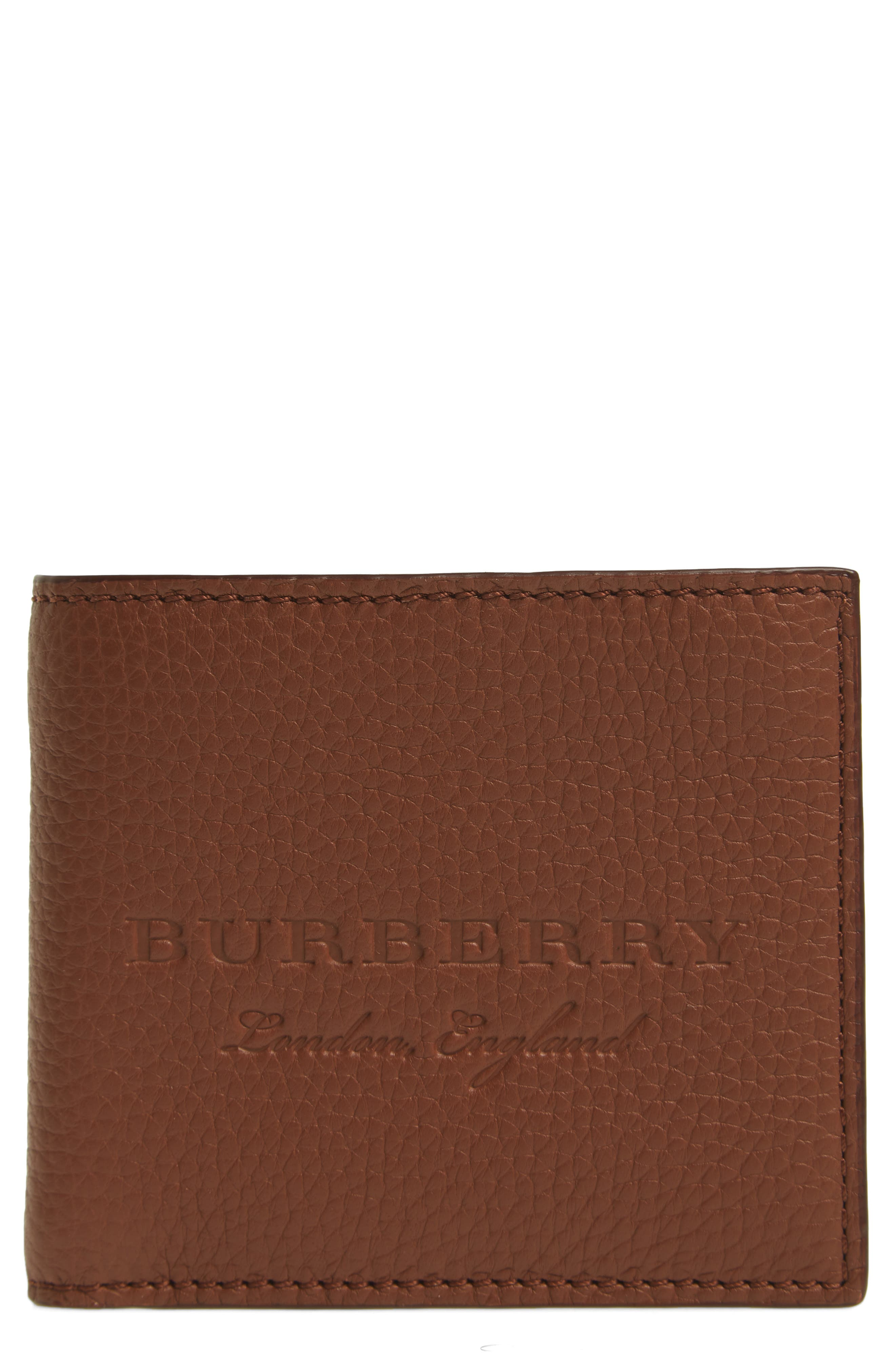 Billfold Wallet,                             Main thumbnail 1, color,                             Chestnut Brown