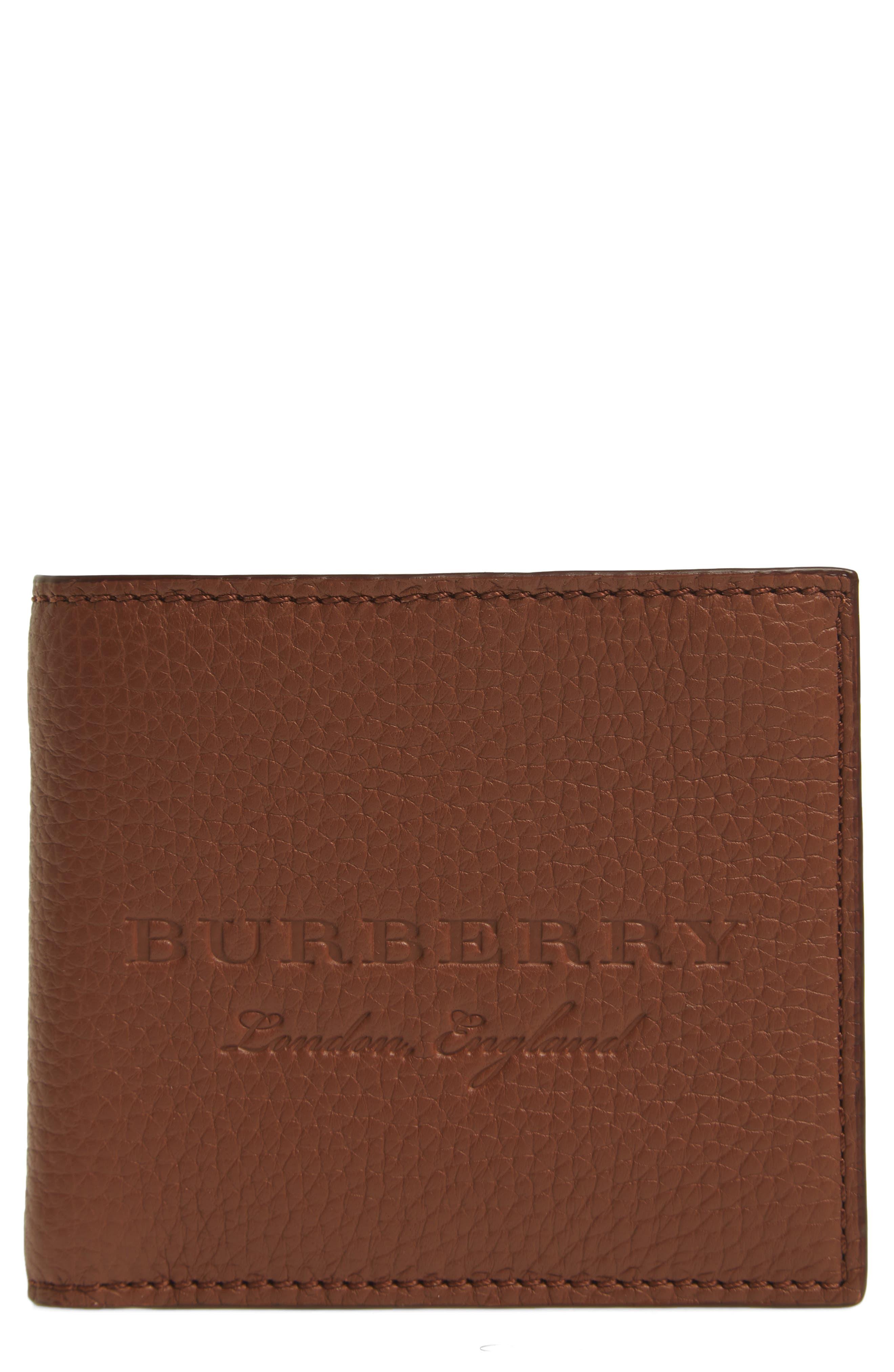Billfold Wallet,                         Main,                         color, Chestnut Brown
