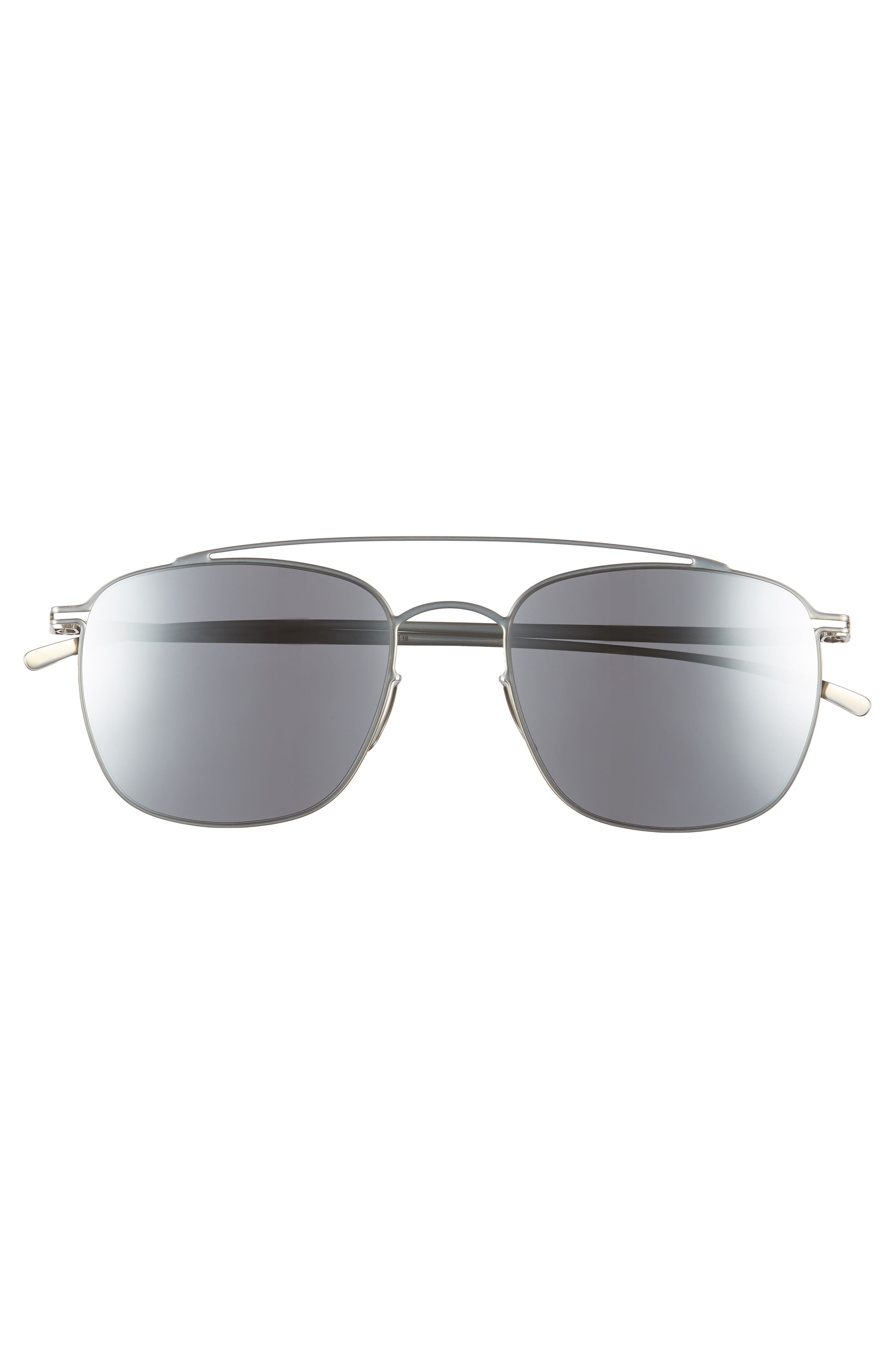 MMESSE007 51mm Aviator Sunglasses,                             Alternate thumbnail 2, color,                             Silver