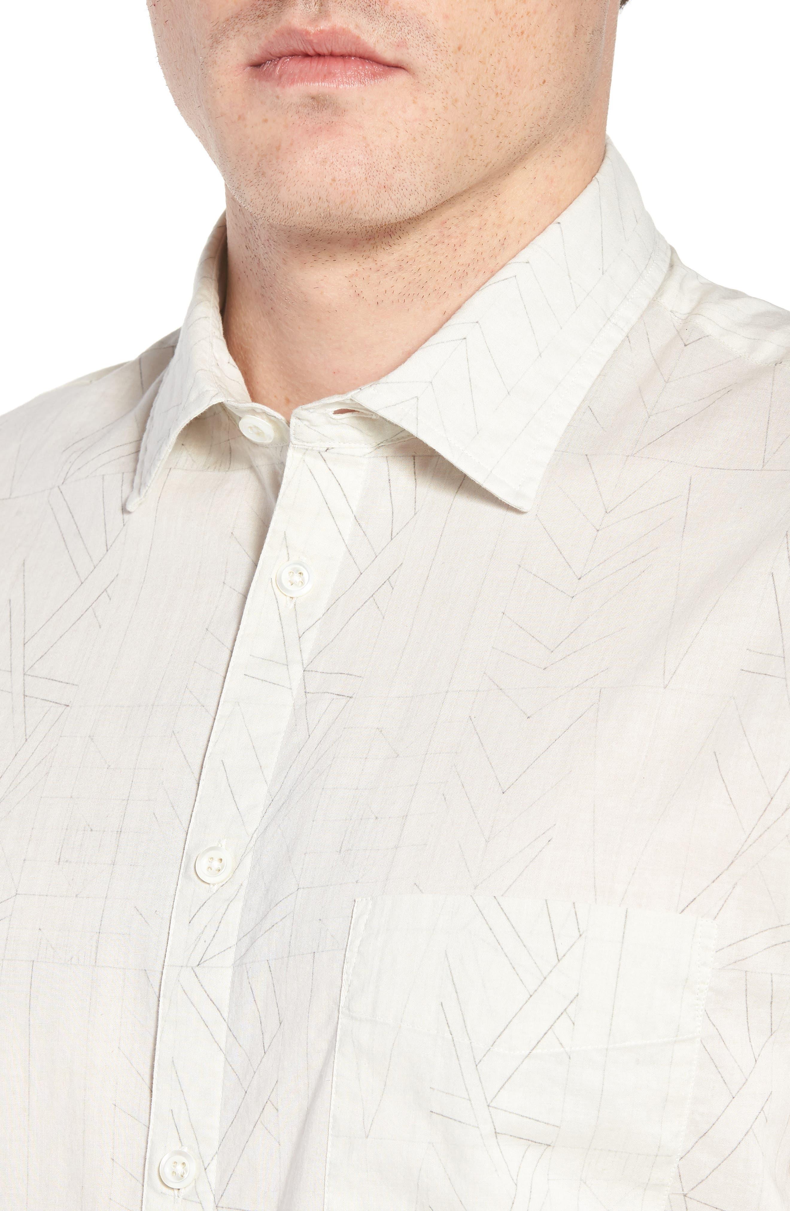 John Sport Shirt,                             Alternate thumbnail 4, color,                             Natural