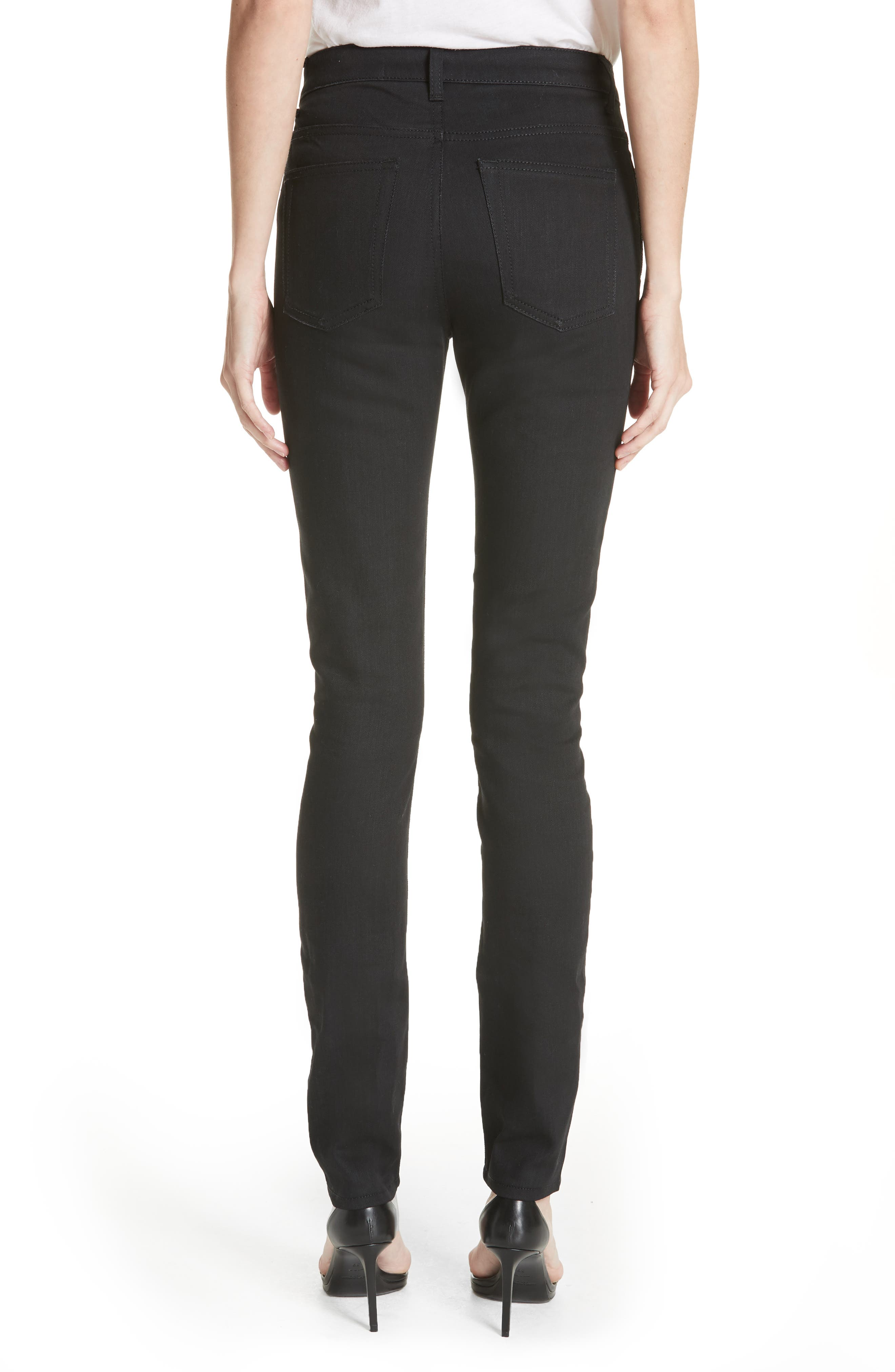 Coated Skinny Jeans,                             Alternate thumbnail 2, color,                             Used Black