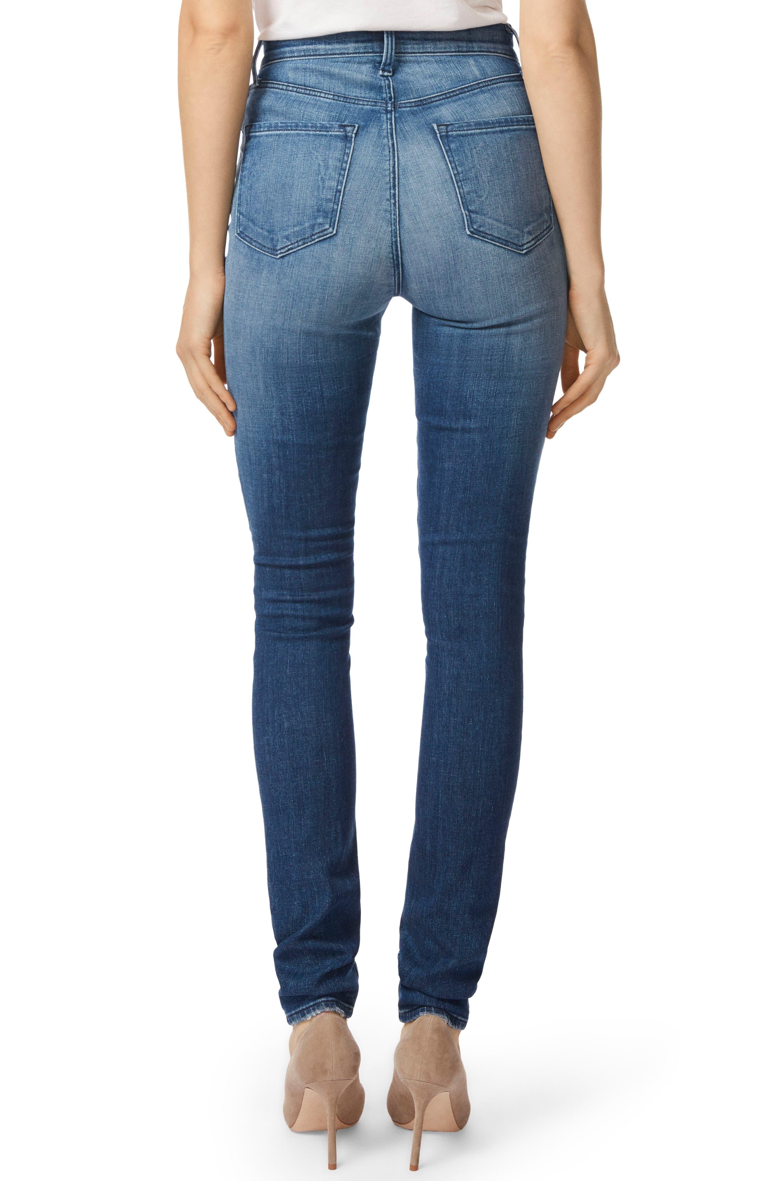 Carolina Super High Waist Skinny Jeans,                             Alternate thumbnail 2, color,                             Mystic