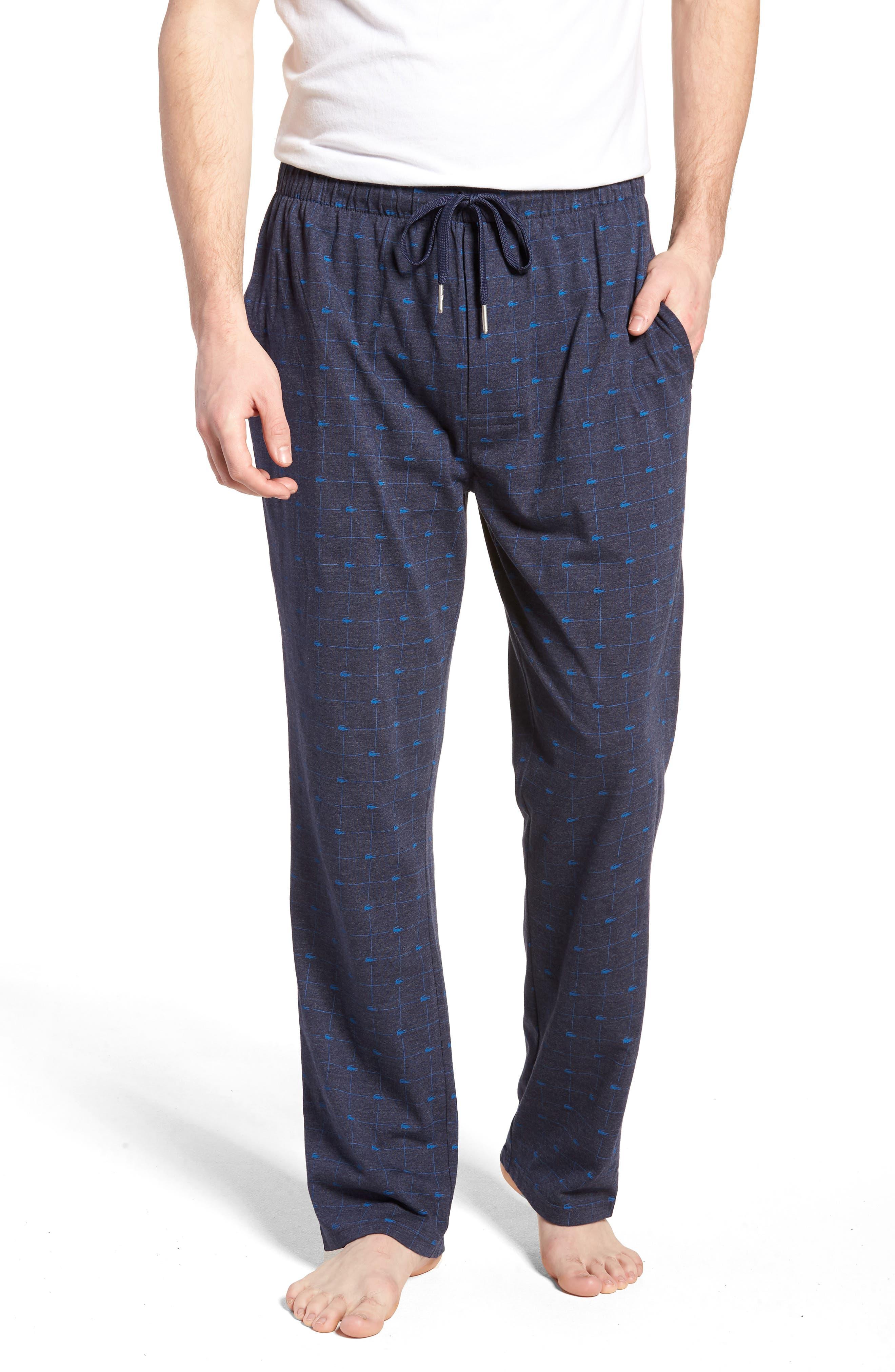 Print Lounge Pants,                         Main,                         color, Classic Blue