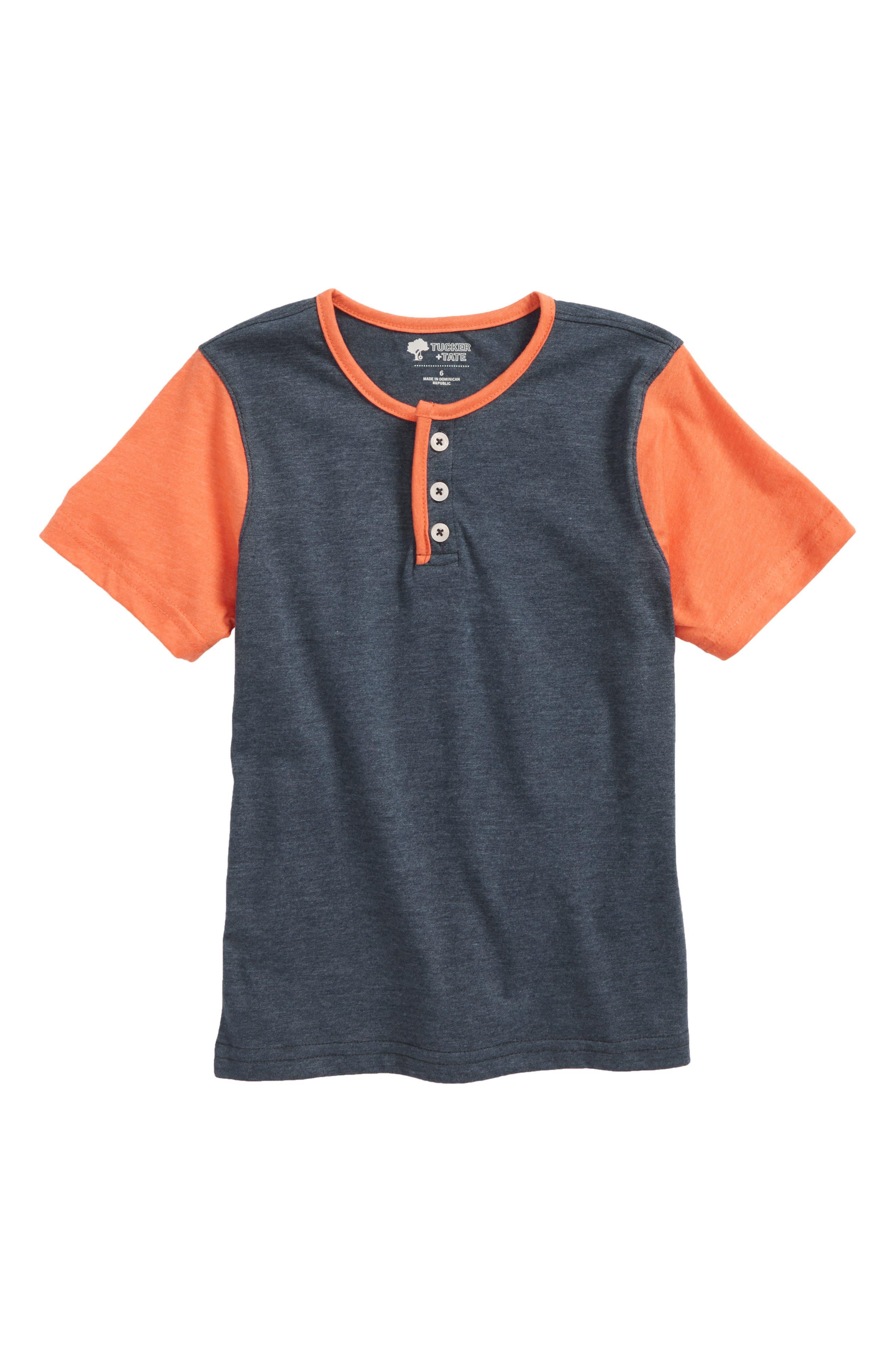 Baseball Henley,                         Main,                         color, Navy Dress