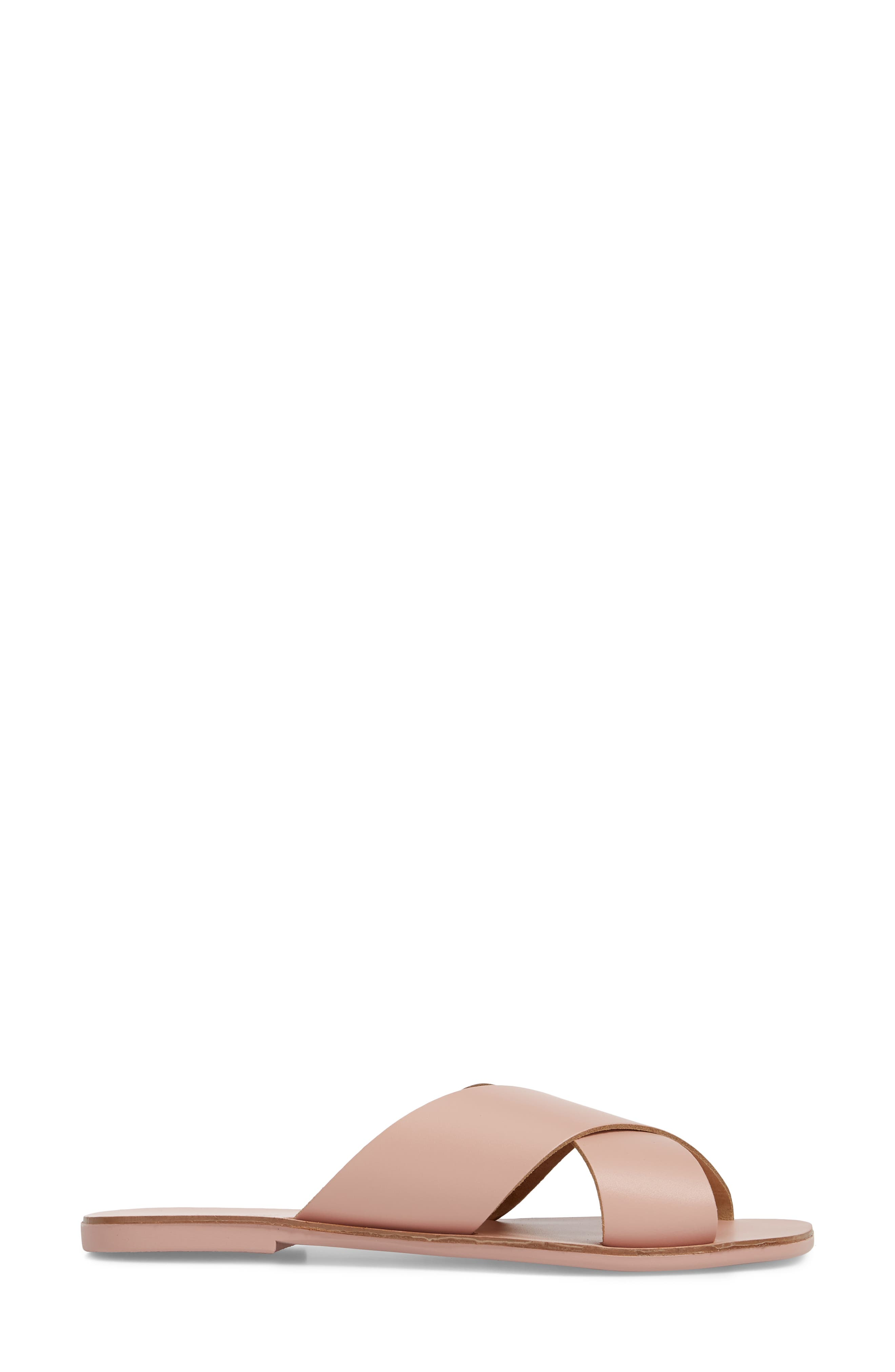 Total Relaxation Slide Sandal,                             Alternate thumbnail 3, color,                             Pink Leather