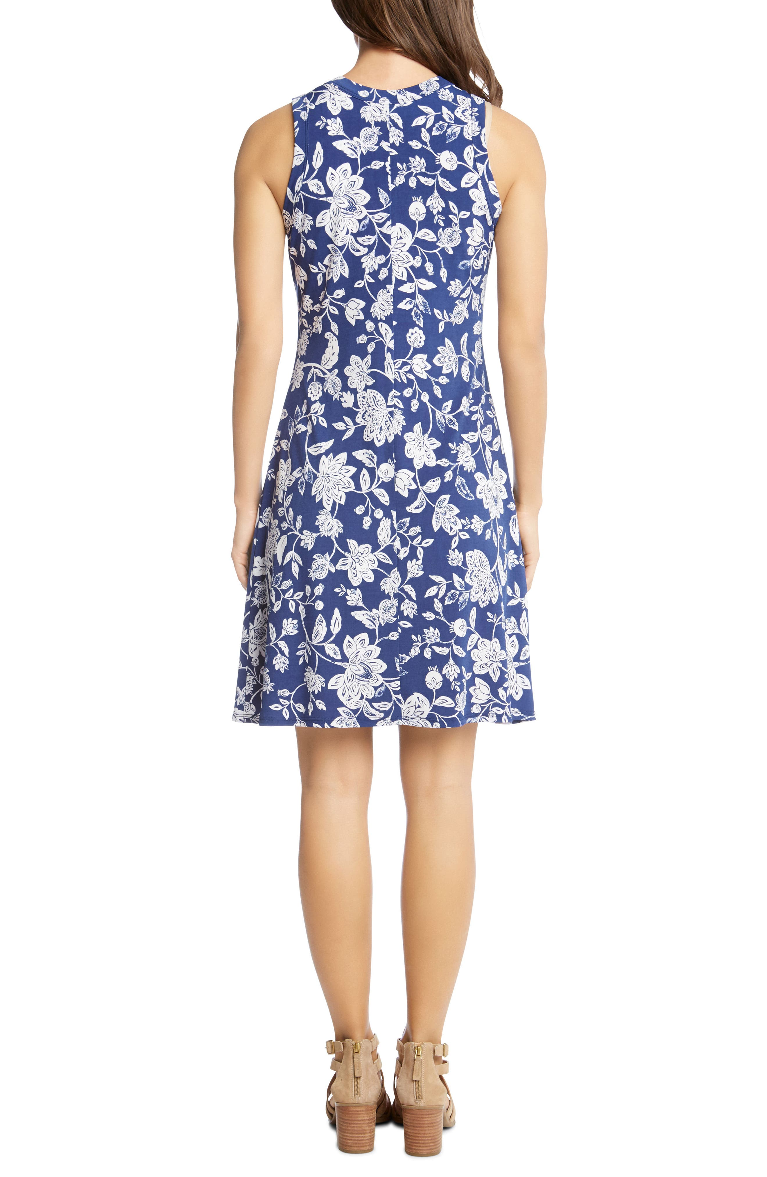 Floral Sleeveless Dress,                             Alternate thumbnail 2, color,                             Print