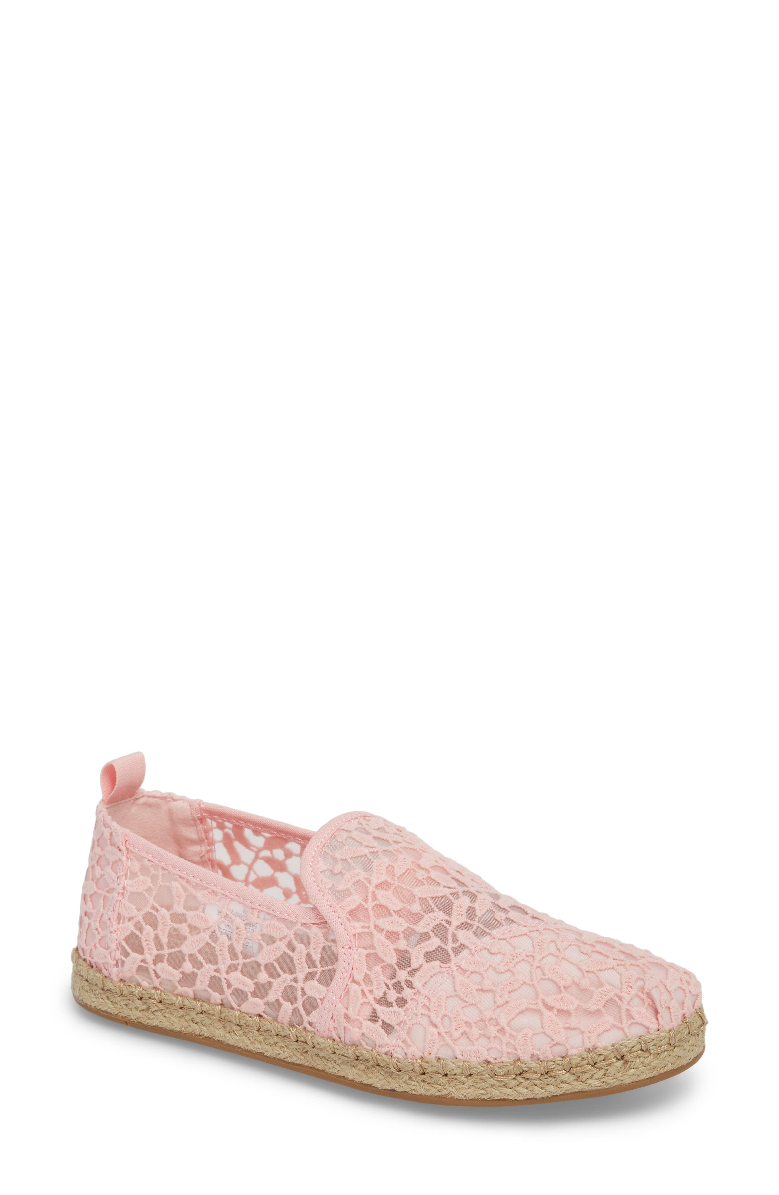 Deconstructed Alpargata Espadrille Slip-On,                             Main thumbnail 1, color,                             Blossom Lace Leaves