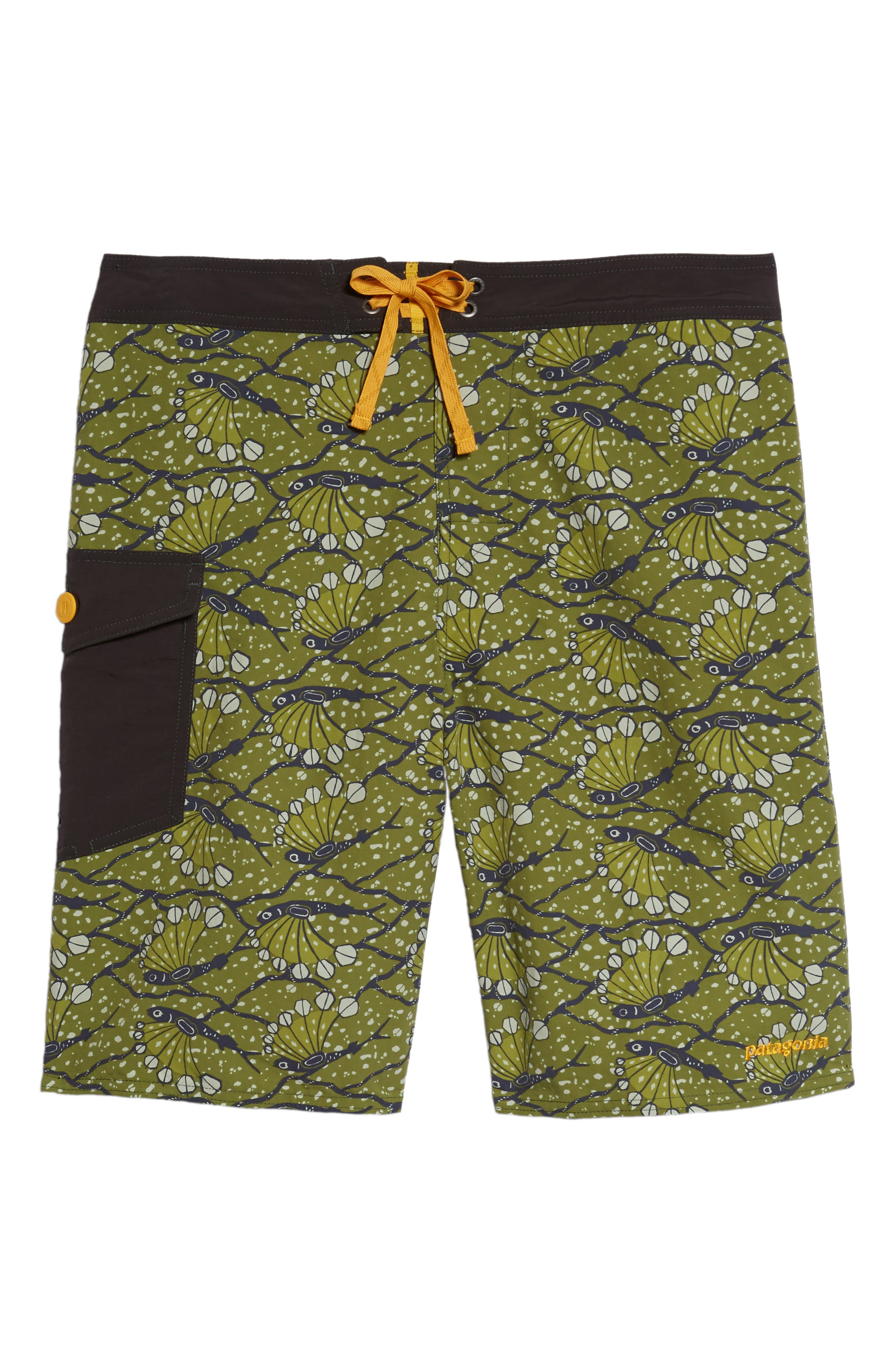 Wavefarer Board Shorts,                             Alternate thumbnail 6, color,                             Hexy Fish Sprouted Green