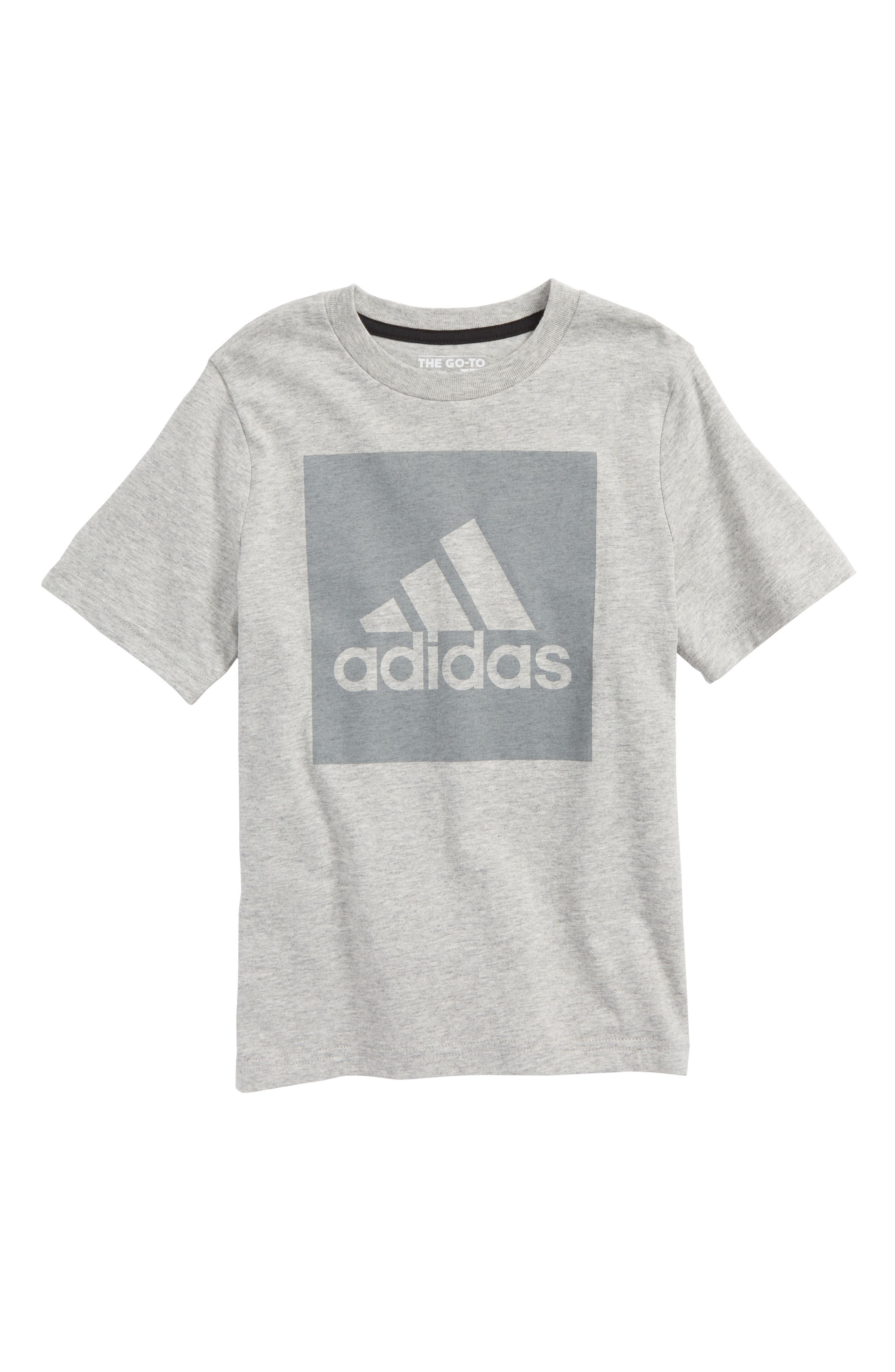 Logo Graphic T-Shirt,                             Main thumbnail 1, color,                             Grey