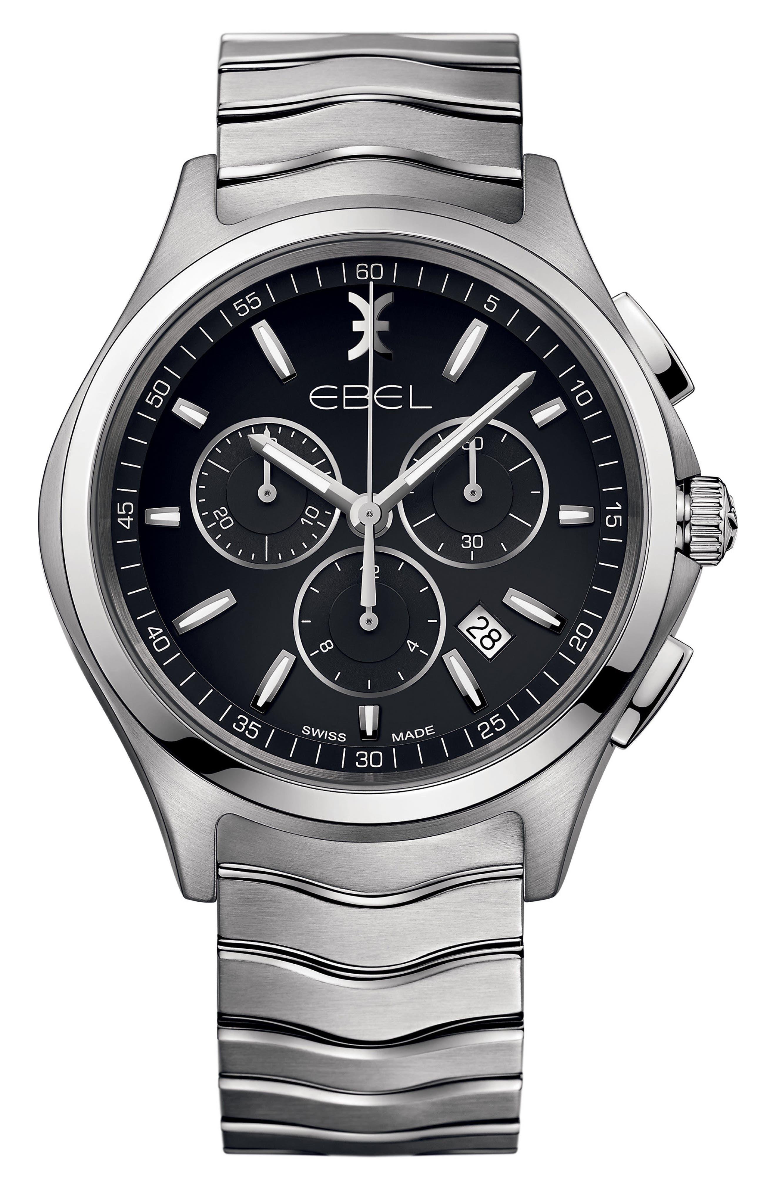 EBEL Wave Chronograph Bracelet Watch, 42mm