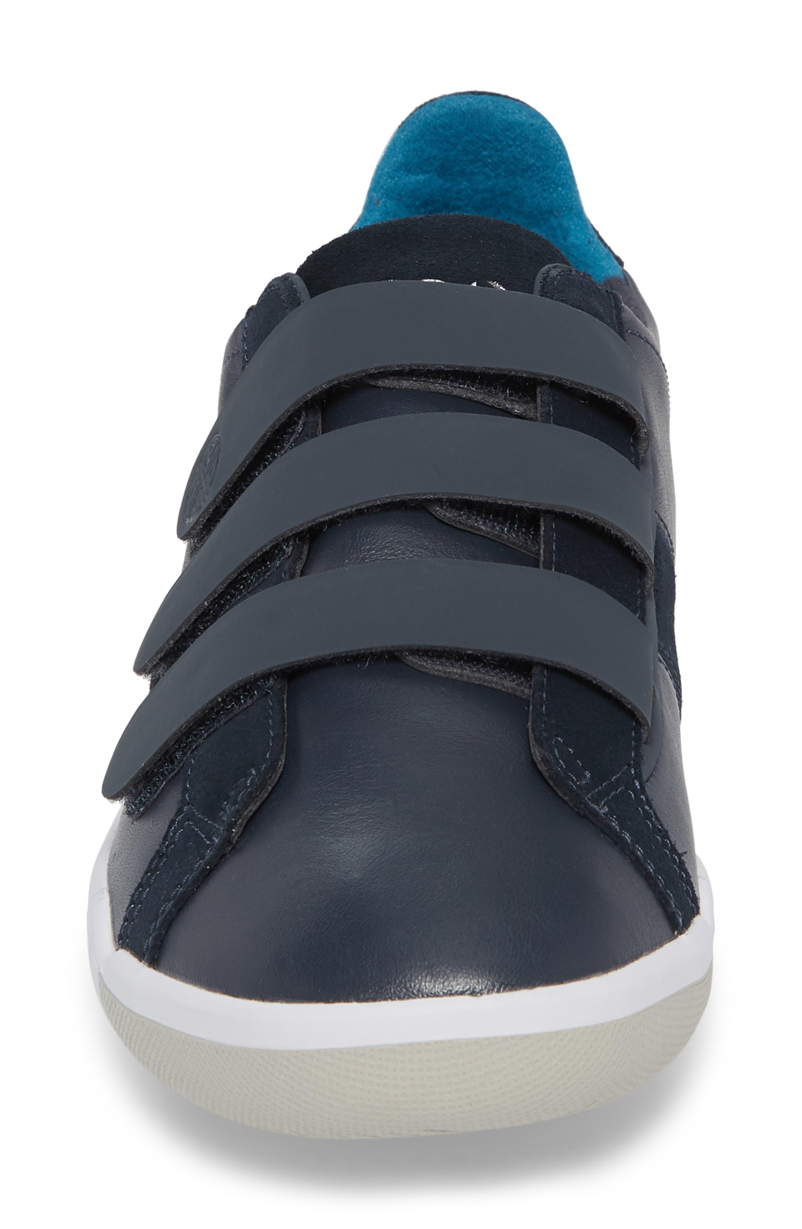 Larkin Low Top Sneaker,                             Alternate thumbnail 4, color,                             Blue Nights