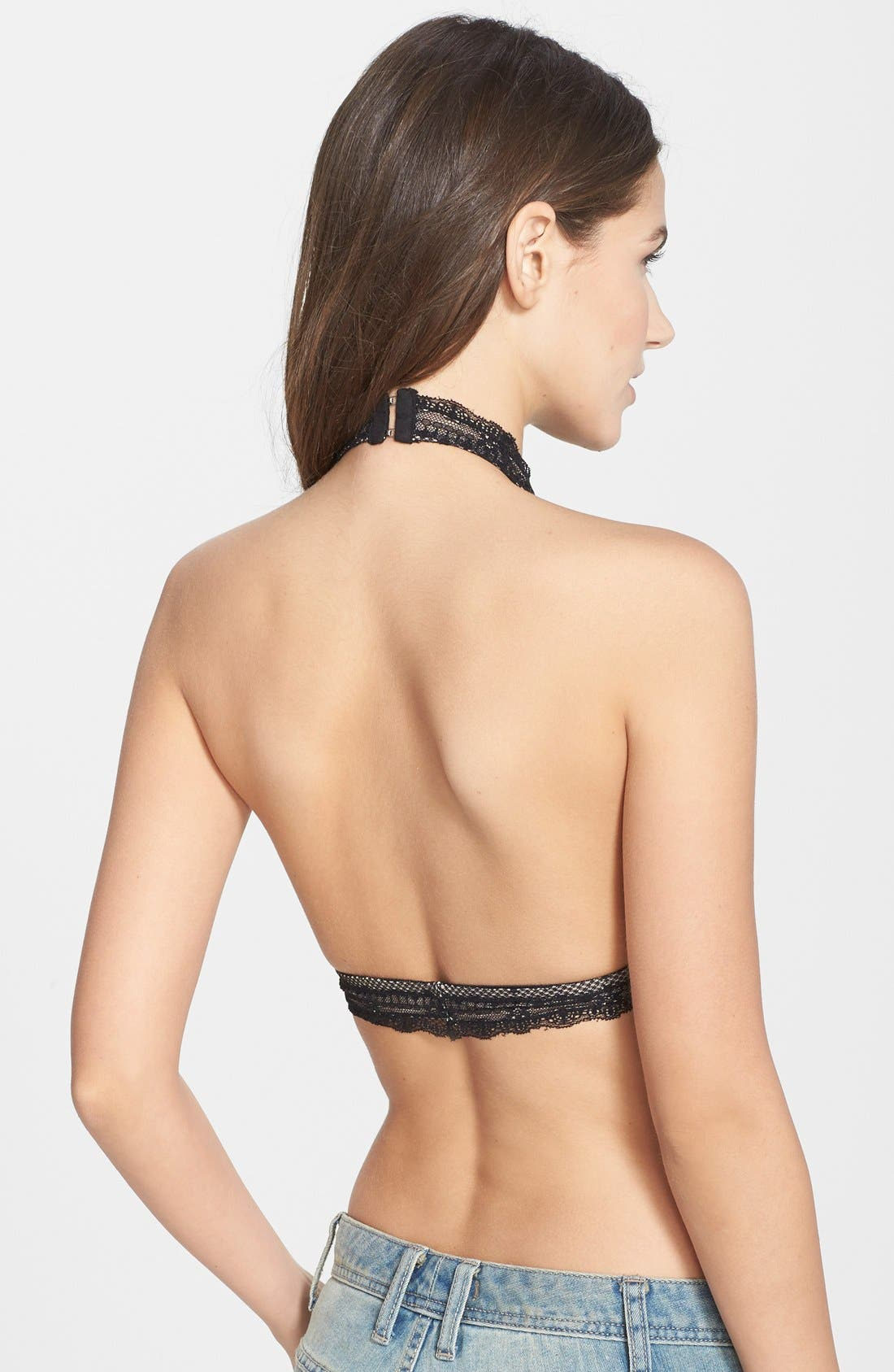 Alternate Image 2  - Free People 'Kiki' Lace Halter Bralette