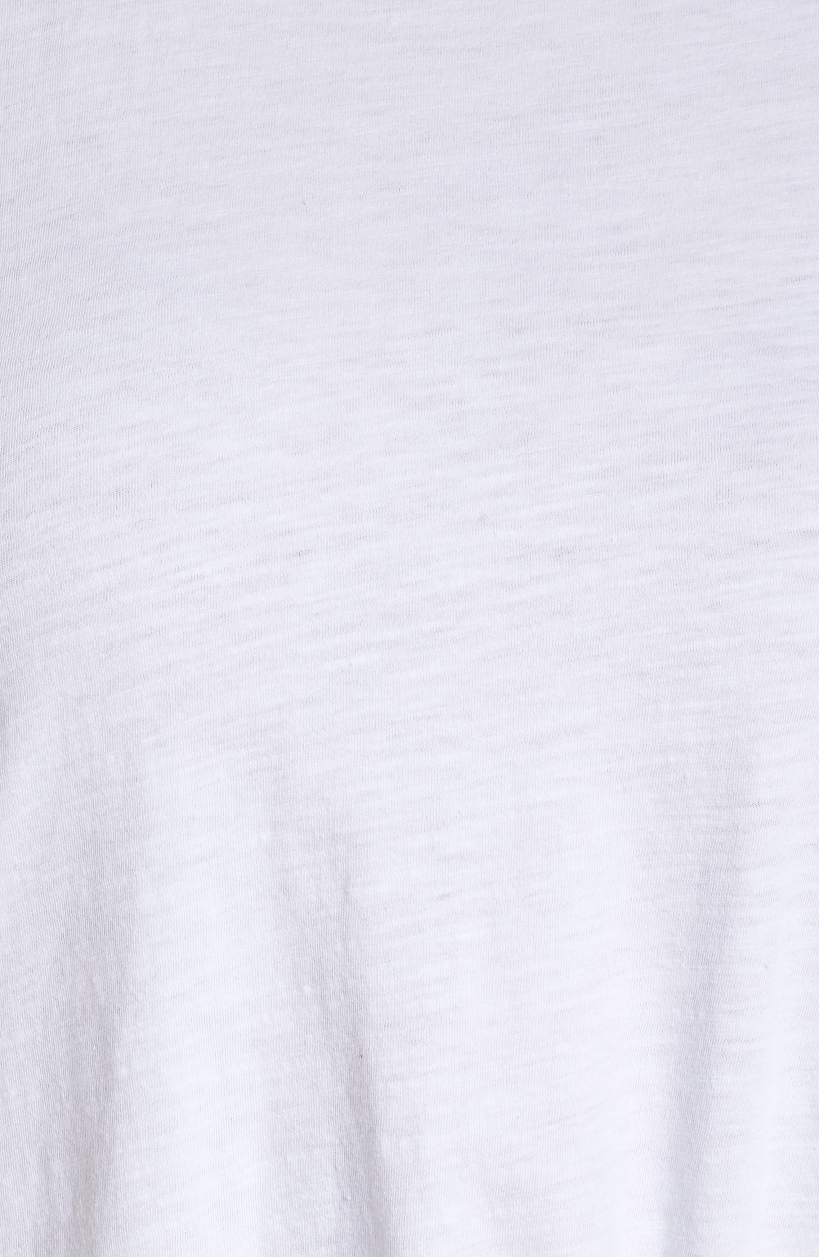 Tie Hem Organic Cotton Tee,                             Alternate thumbnail 6, color,                             White
